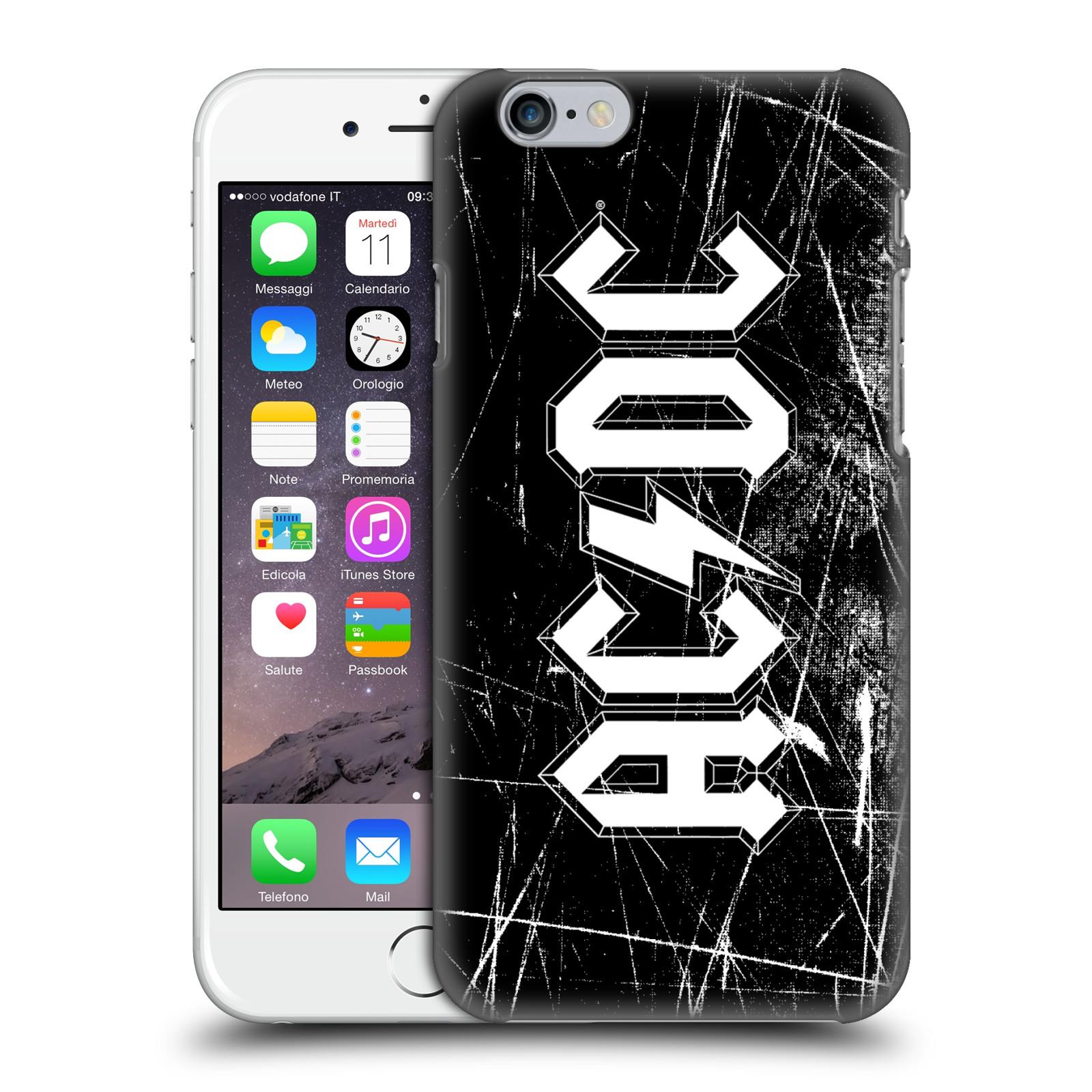 Plastové pouzdro na mobil Apple iPhone 6 HEAD CASE AC/DC Černobílé logo