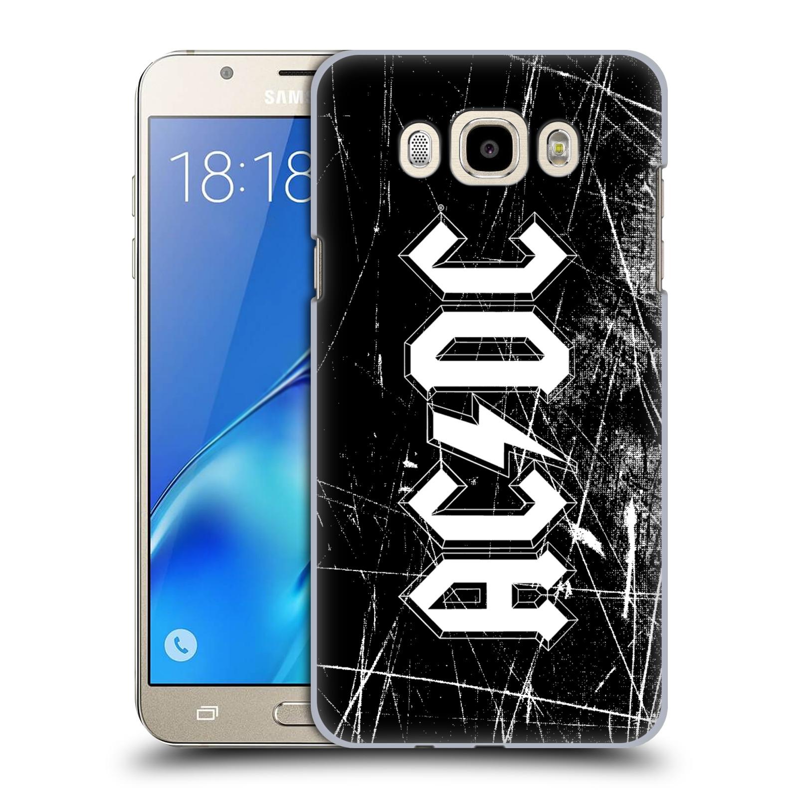 Plastové pouzdro na mobil Samsung Galaxy J7 (2016) HEAD CASE AC/DC Černobílé logo