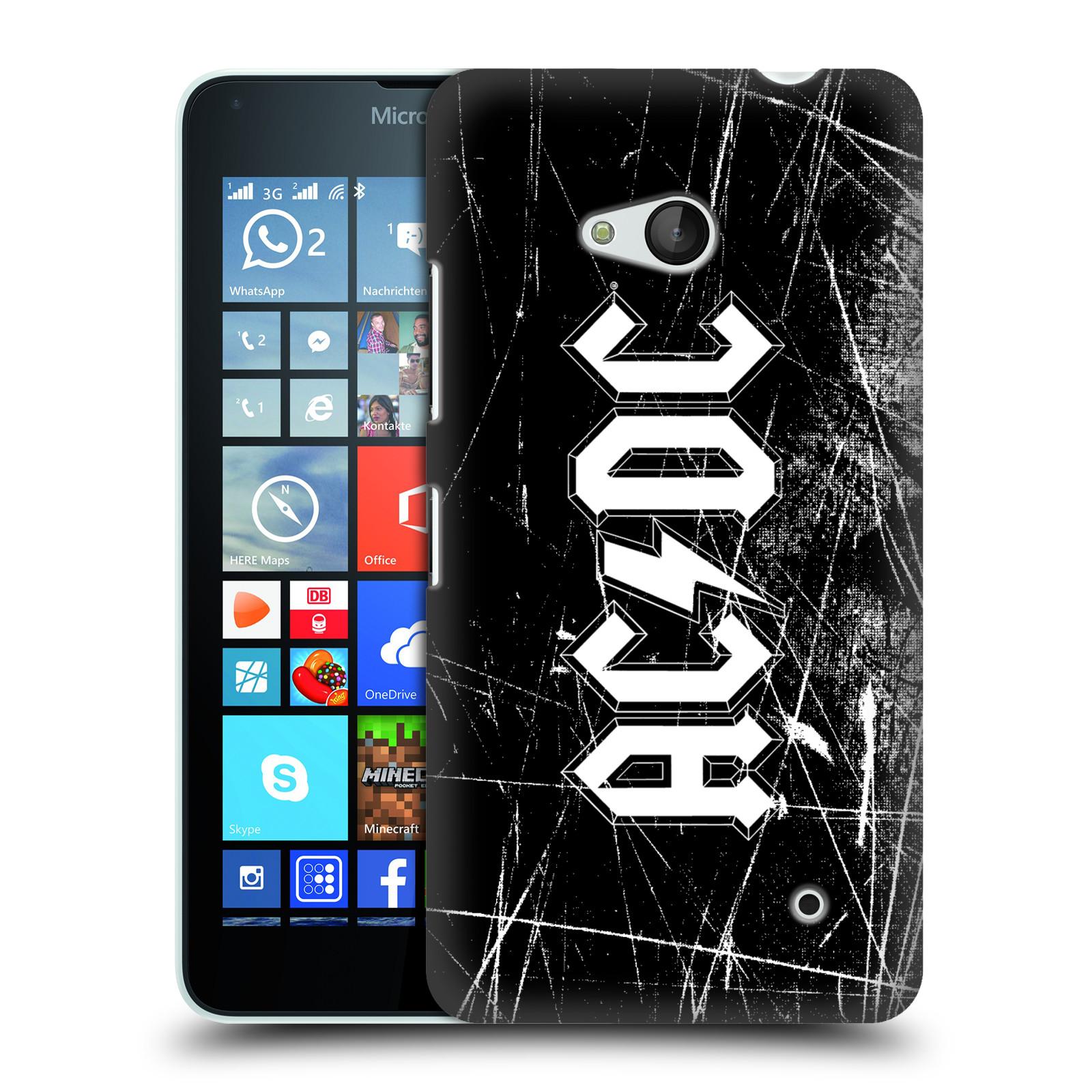 Plastové pouzdro na mobil Microsoft Lumia 640 HEAD CASE AC/DC Černobílé logo