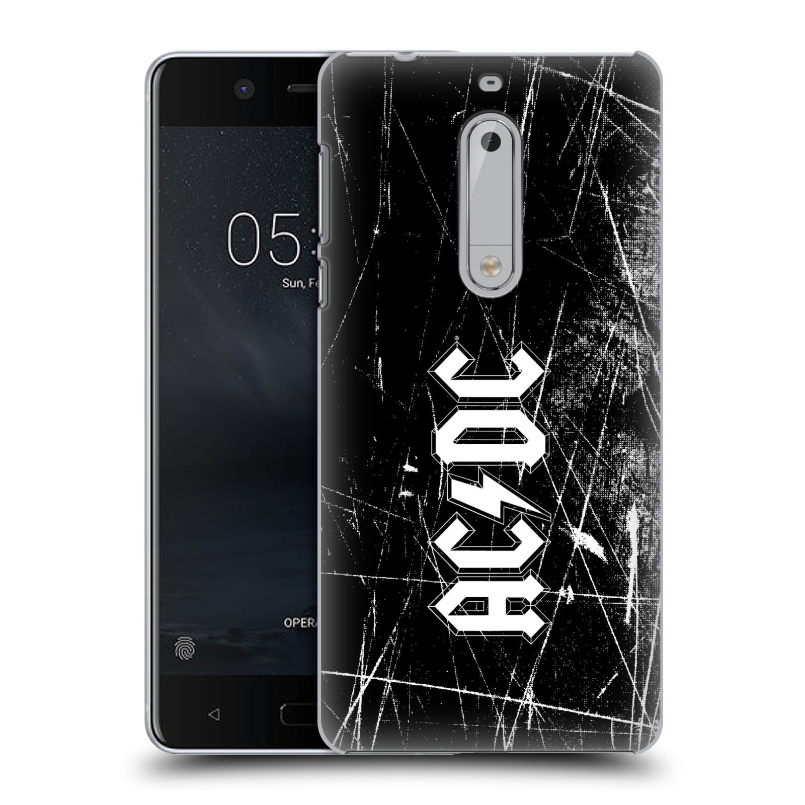 Plastové pouzdro na mobil Nokia 5 Head Case - AC/DC Černobílé logo