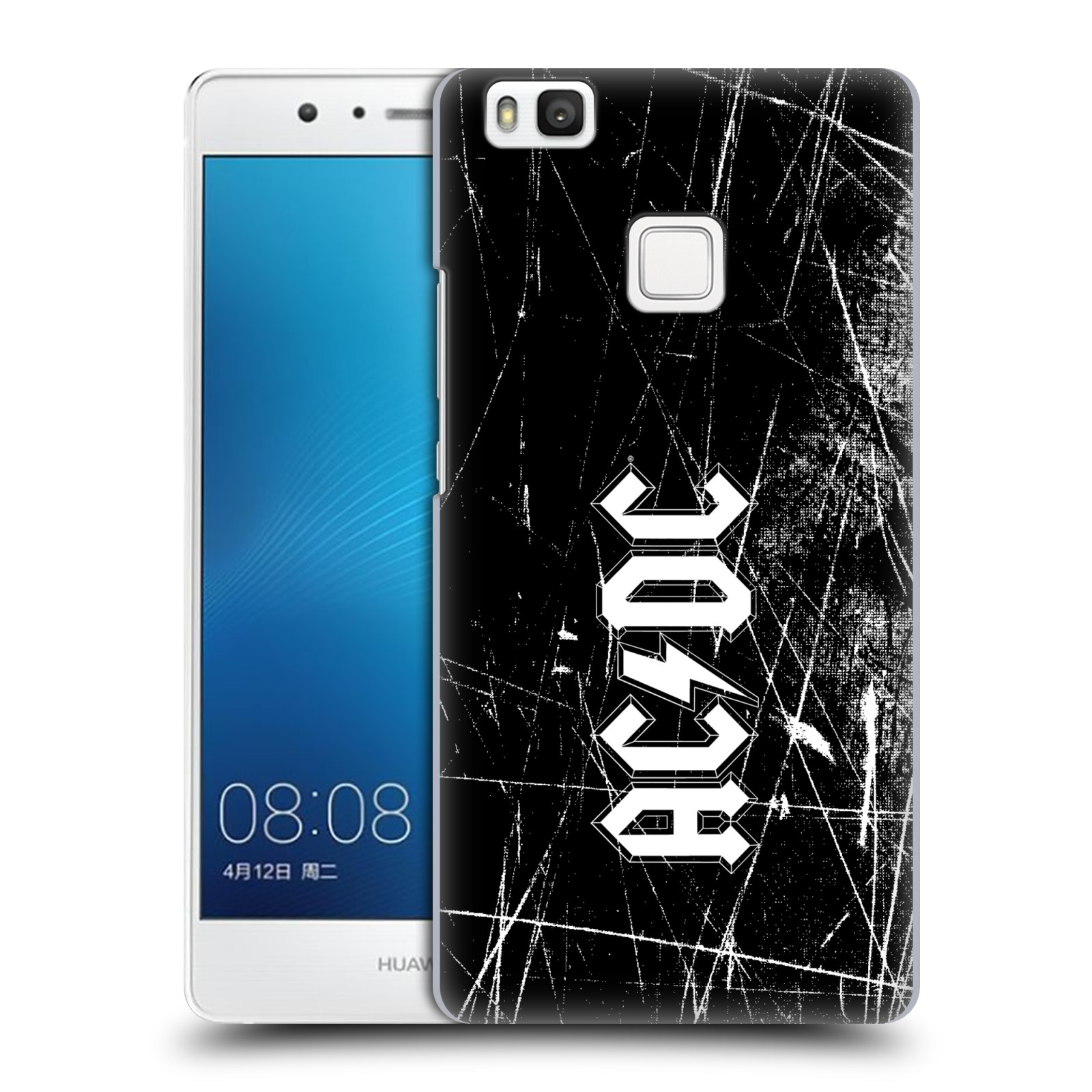 Plastové pouzdro na mobil Huawei P9 Lite HEAD CASE AC/DC Černobílé logo