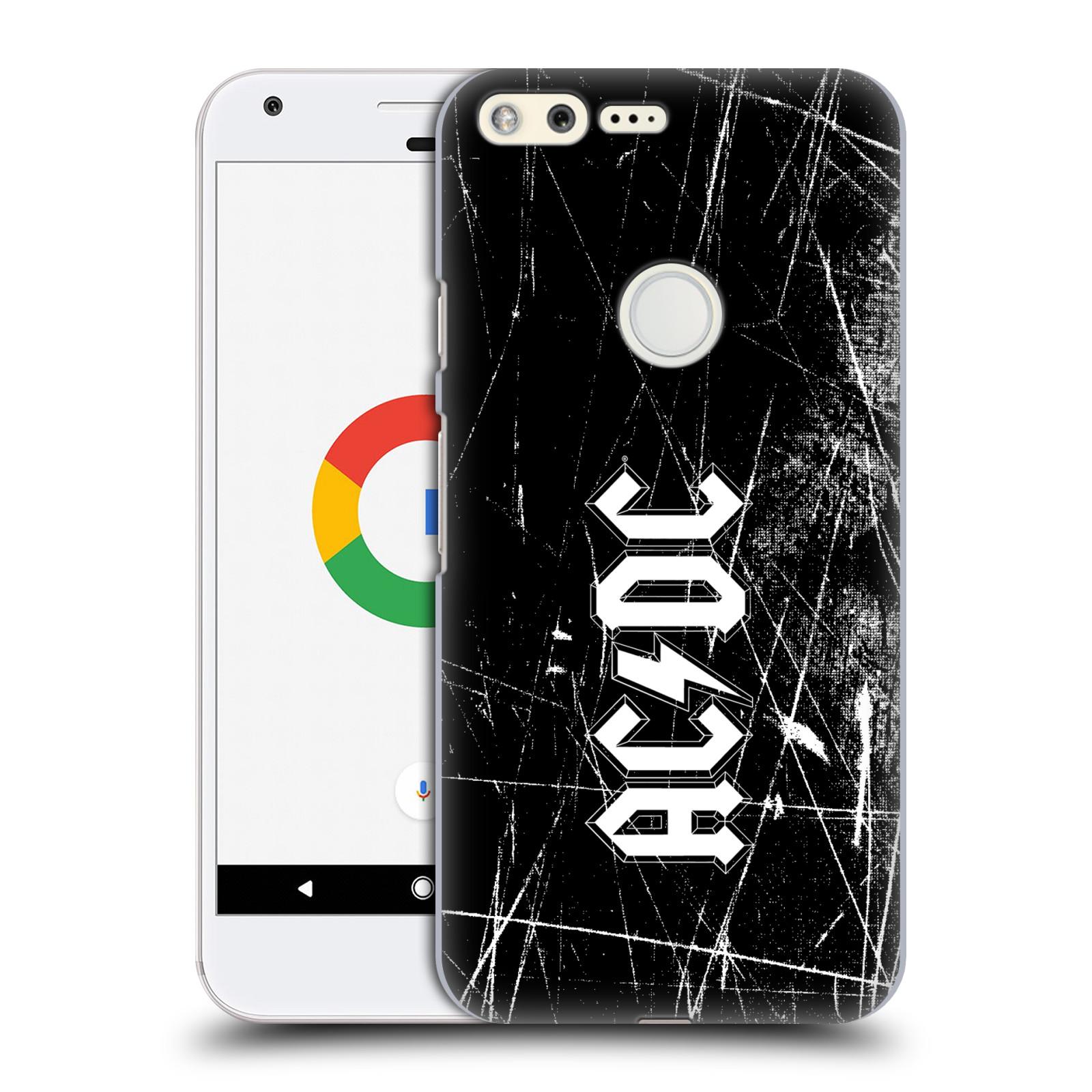 Plastové pouzdro na mobil Google Pixel HEAD CASE AC/DC Černobílé logo