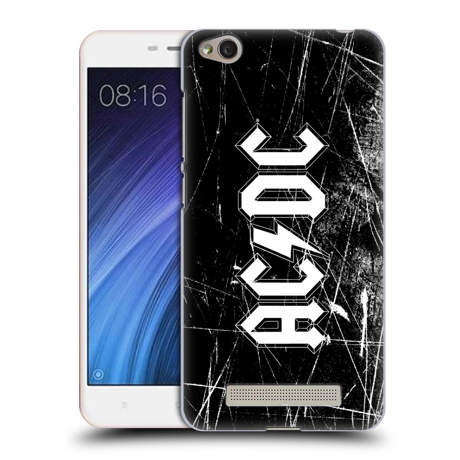 Plastové pouzdro na mobil Xiaomi Redmi 4A HEAD CASE AC/DC Černobílé logo