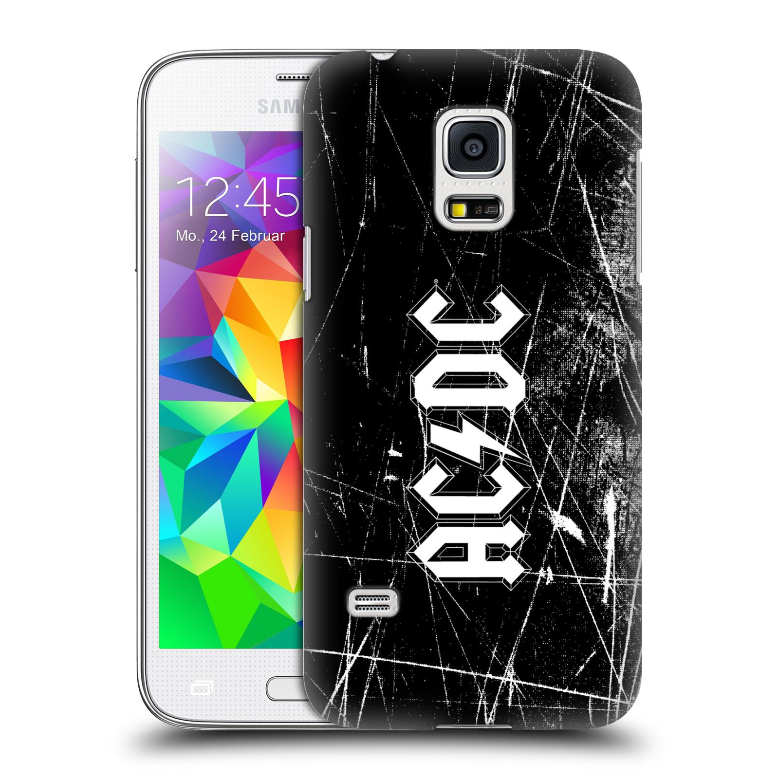 Plastové pouzdro na mobil Samsung Galaxy S5 Mini HEAD CASE AC/DC Černobílé logo