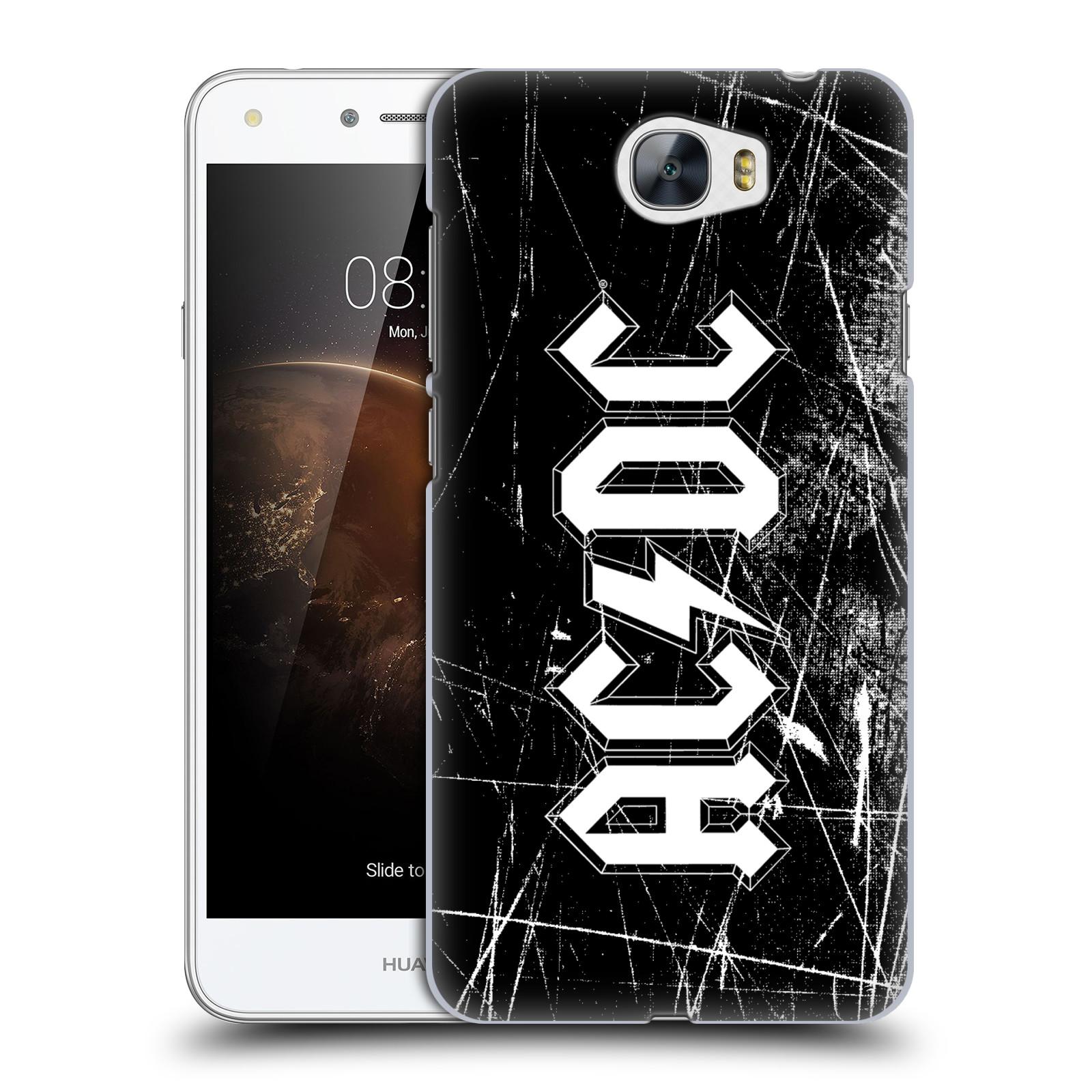 Plastové pouzdro na mobil Huawei Y5 II HEAD CASE AC/DC Černobílé logo