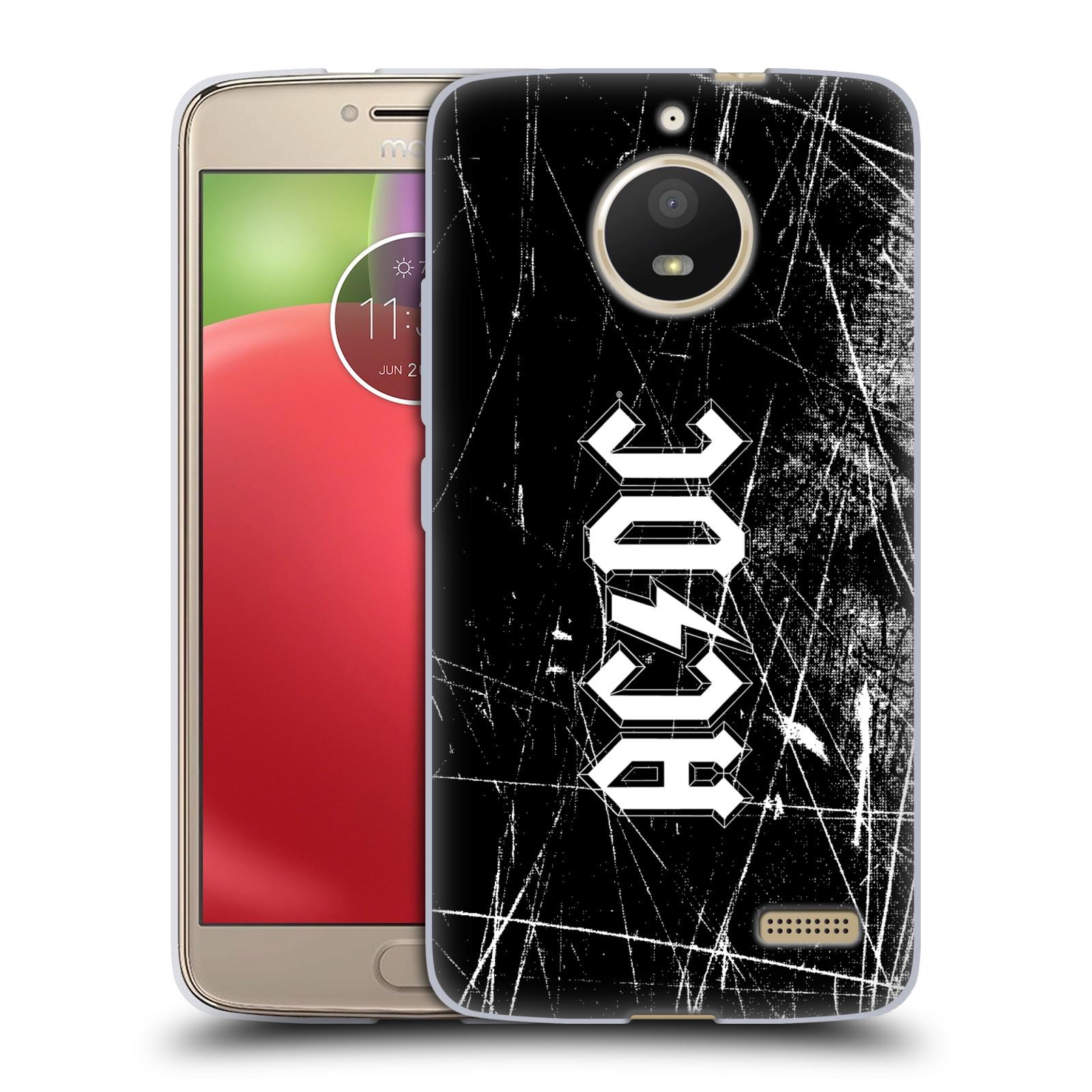 Silikonové pouzdro na mobil Lenovo Moto E4 - Head Case - AC/DC Černobílé logo