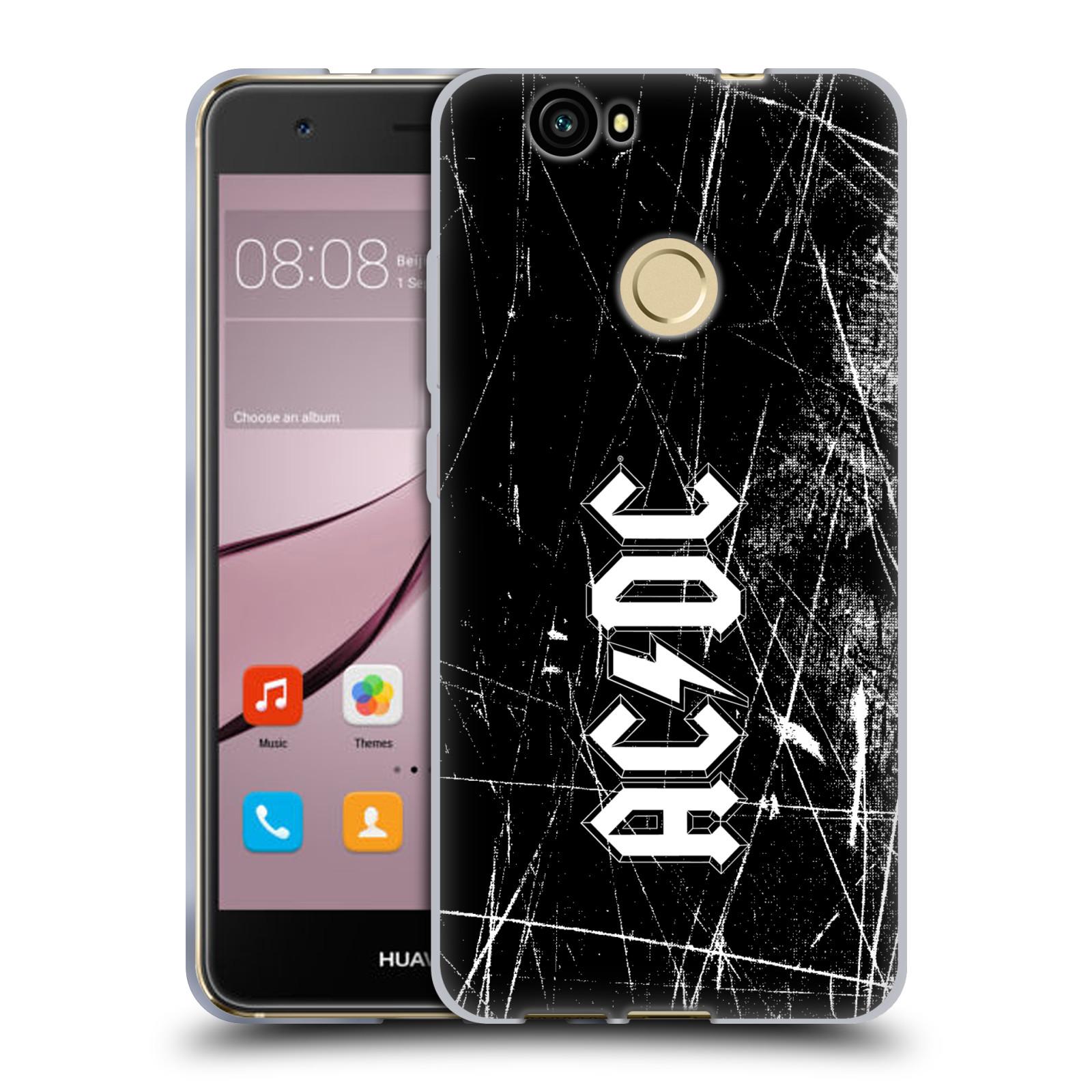 Silikonové pouzdro na mobil Huawei Nova - Head Case - AC/DC Černobílé logo