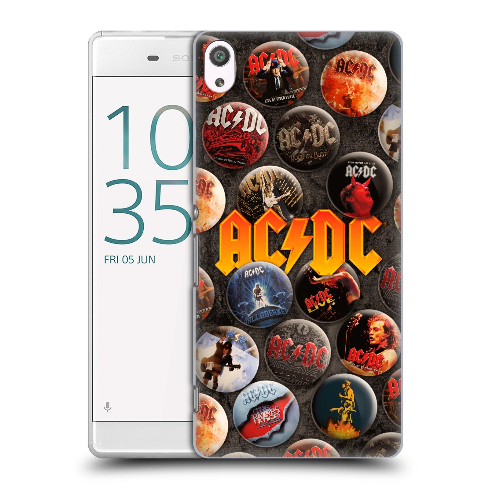 Plastové pouzdro na mobil Sony Xperia XA Ultra HEAD CASE AC/DC Placky