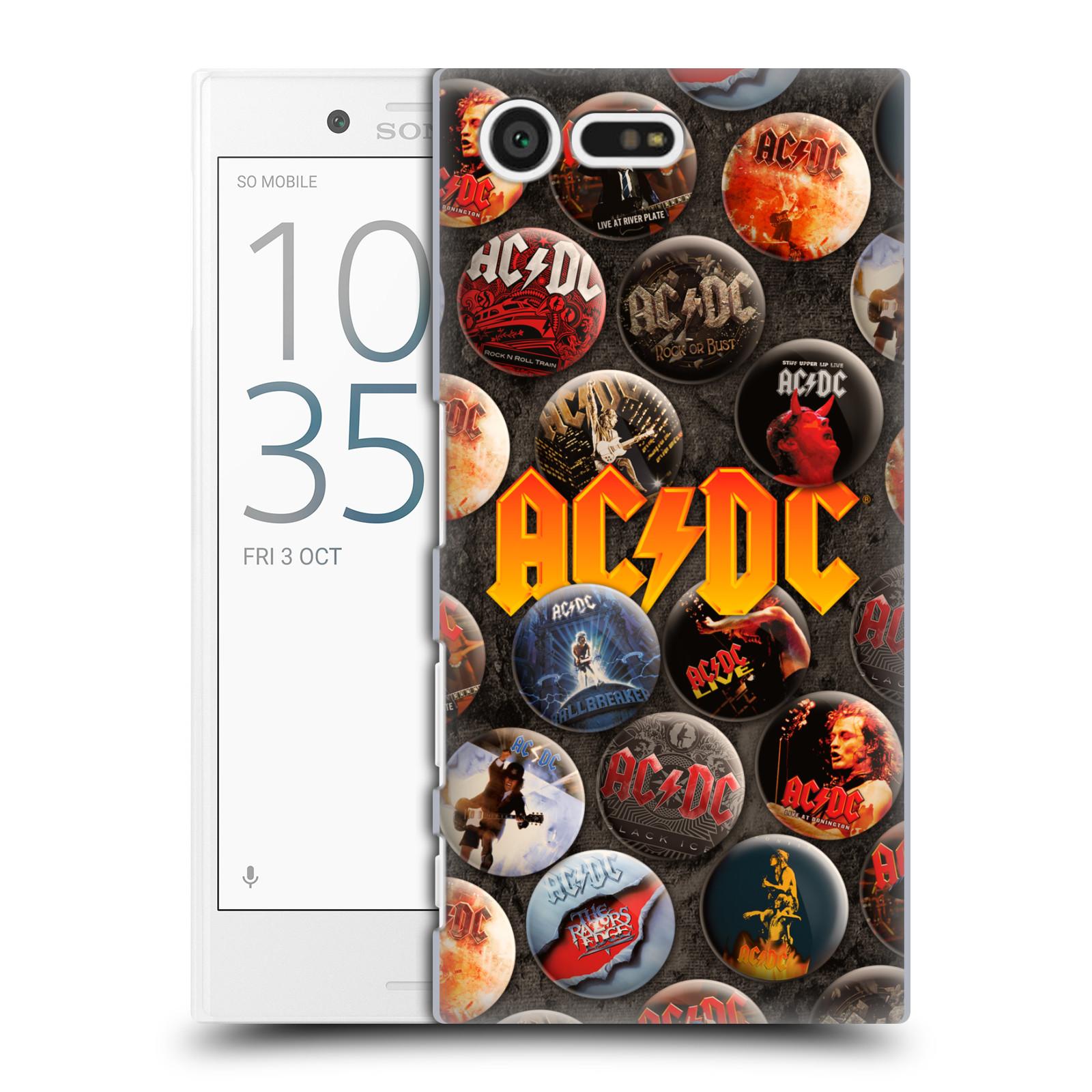 Plastové pouzdro na mobil Sony Xperia X Compact HEAD CASE AC/DC Placky