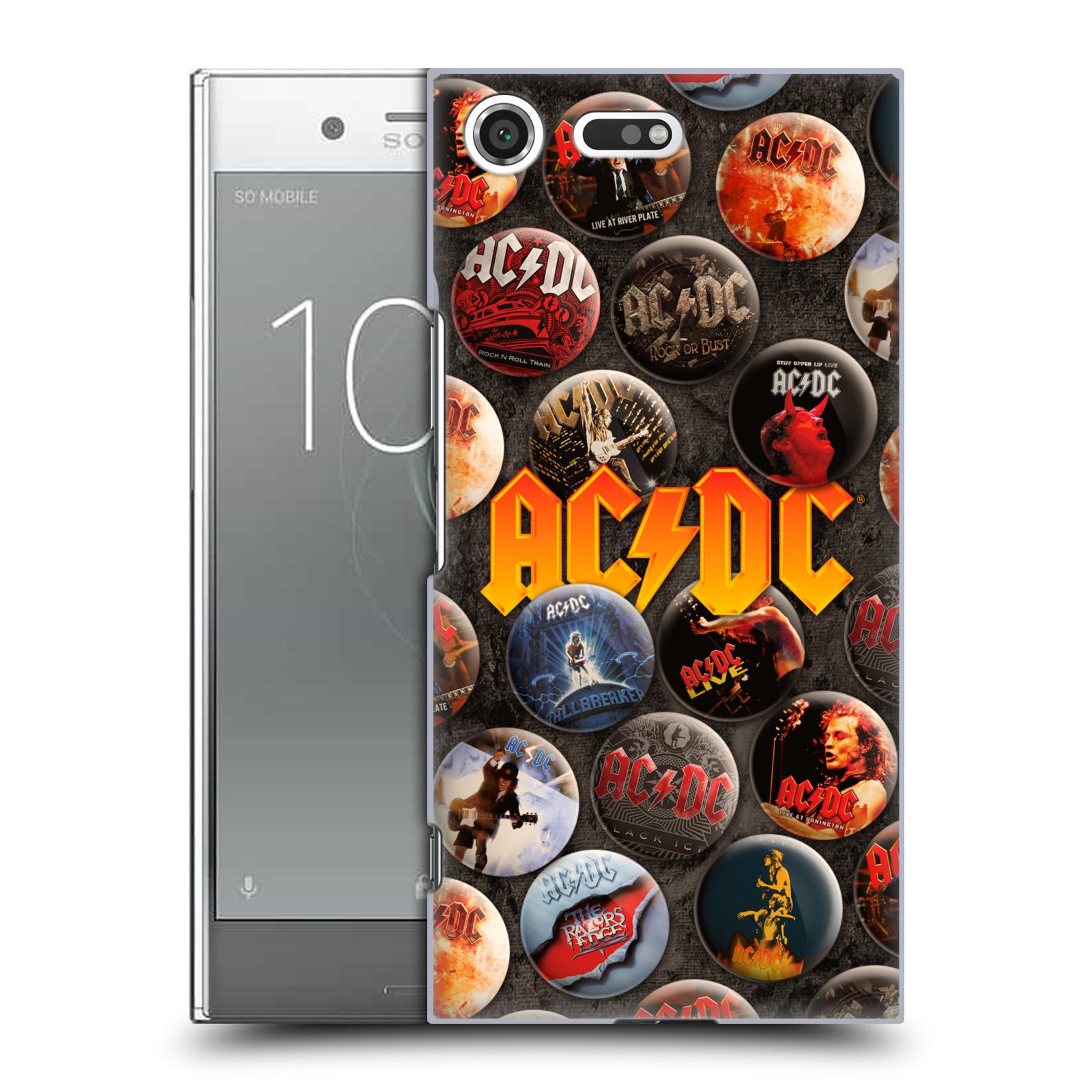 Plastové pouzdro na mobil Sony Xperia XZ Premium Head Case - AC/DC Placky