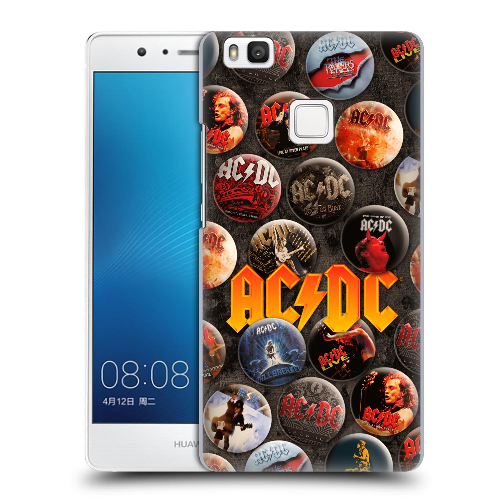 Plastové pouzdro na mobil Huawei P9 Lite HEAD CASE AC/DC Placky