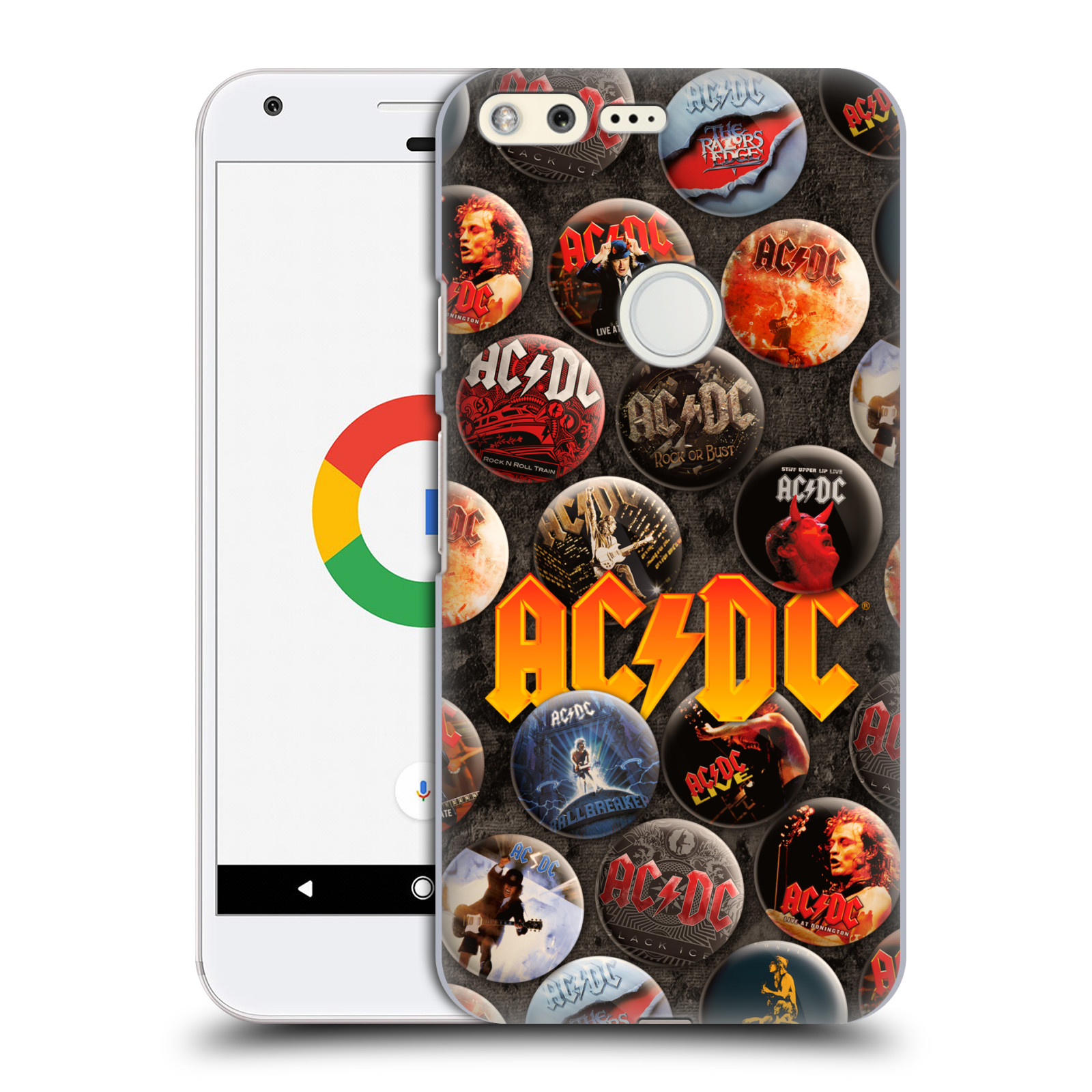 Plastové pouzdro na mobil Google Pixel HEAD CASE AC/DC Placky