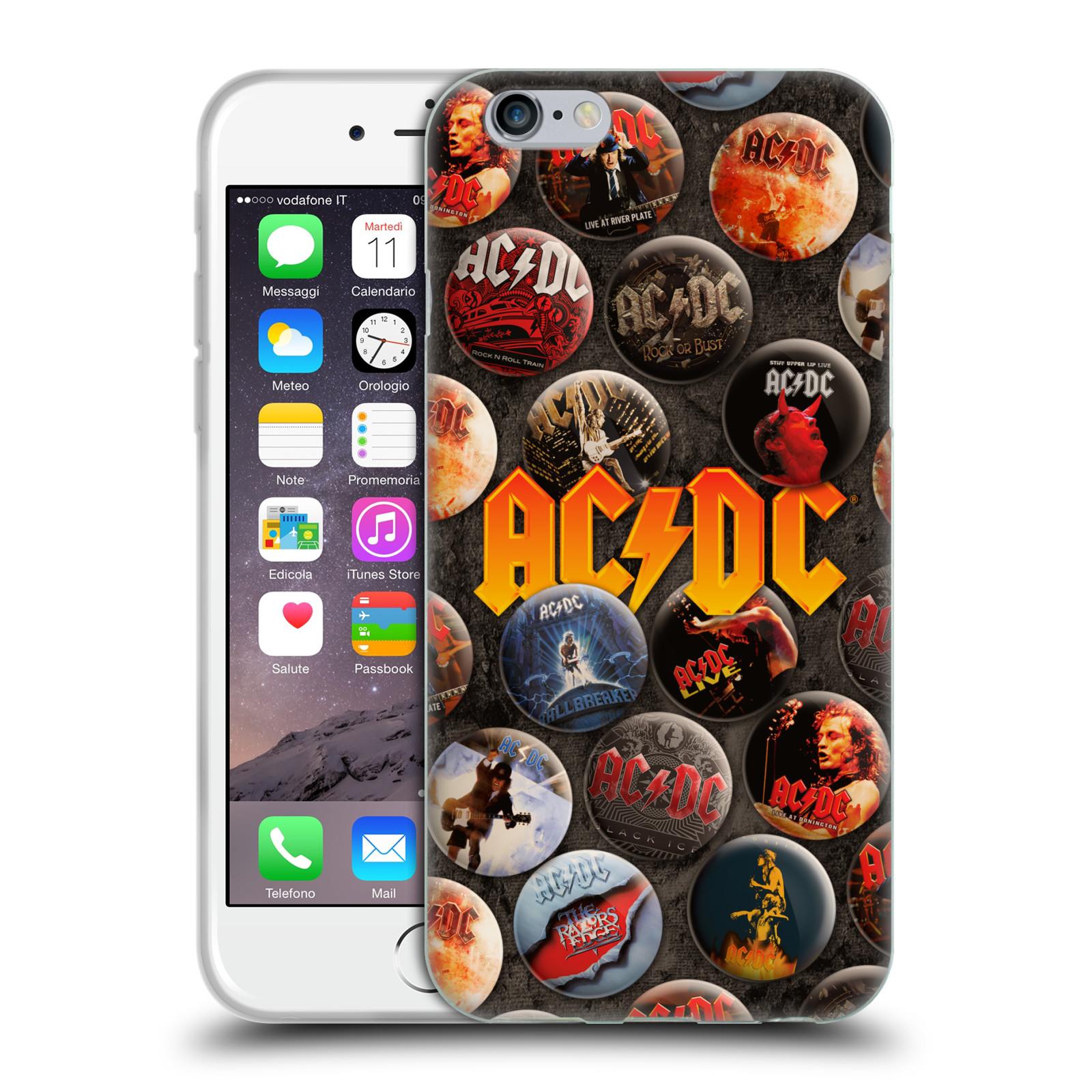 Silikonové pouzdro na mobil Apple iPhone 6 HEAD CASE AC/DC Placky