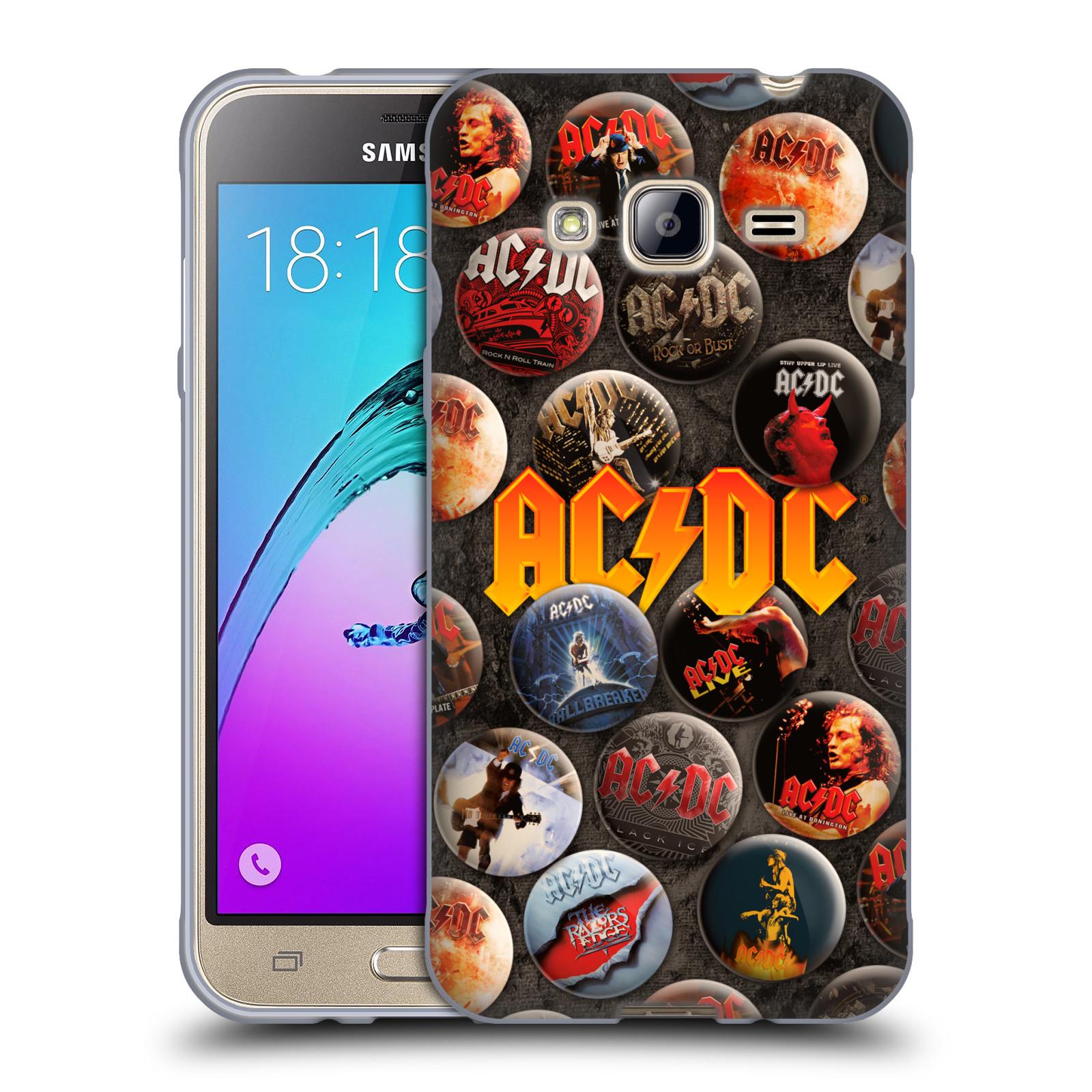 Silikonové pouzdro na mobil Samsung Galaxy J3 (2016) HEAD CASE AC/DC Placky