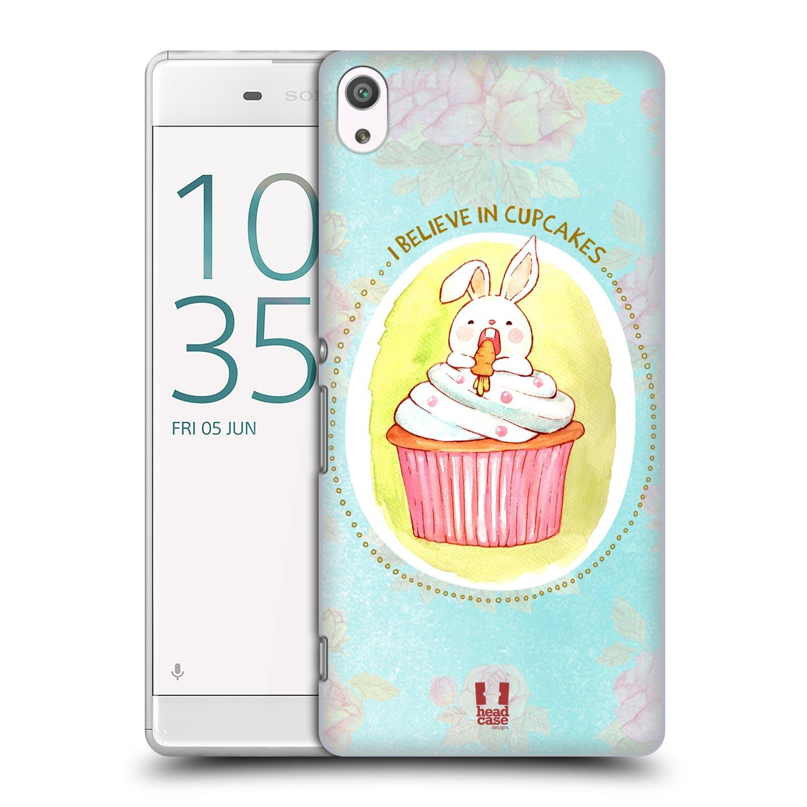 Plastové pouzdro na mobil Sony Xperia XA Ultra HEAD CASE KRÁLÍČEK CUPCAKE