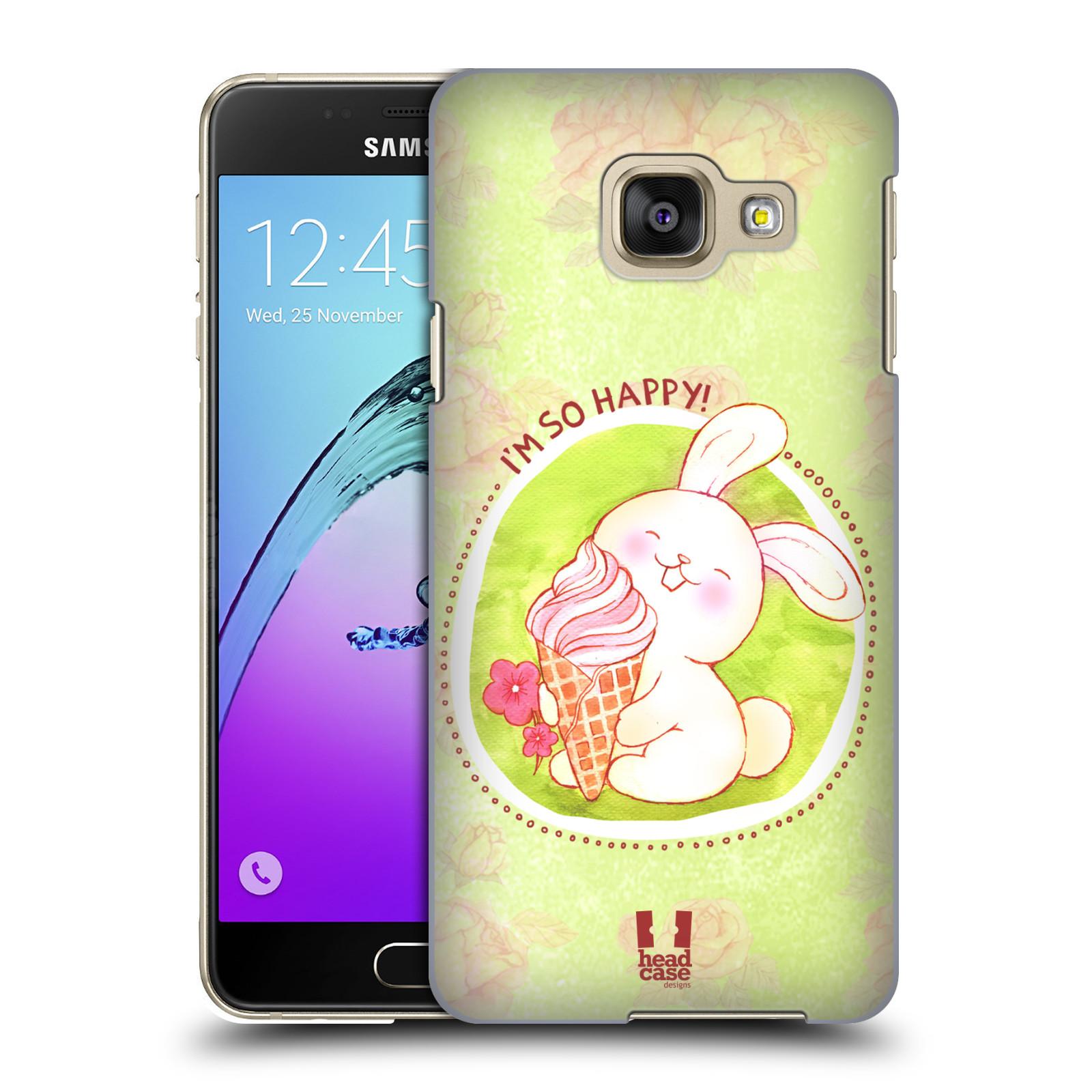 Plastové pouzdro na mobil Samsung Galaxy A3 (2016) HEAD CASE KRÁLÍČEK A ZMRZKA