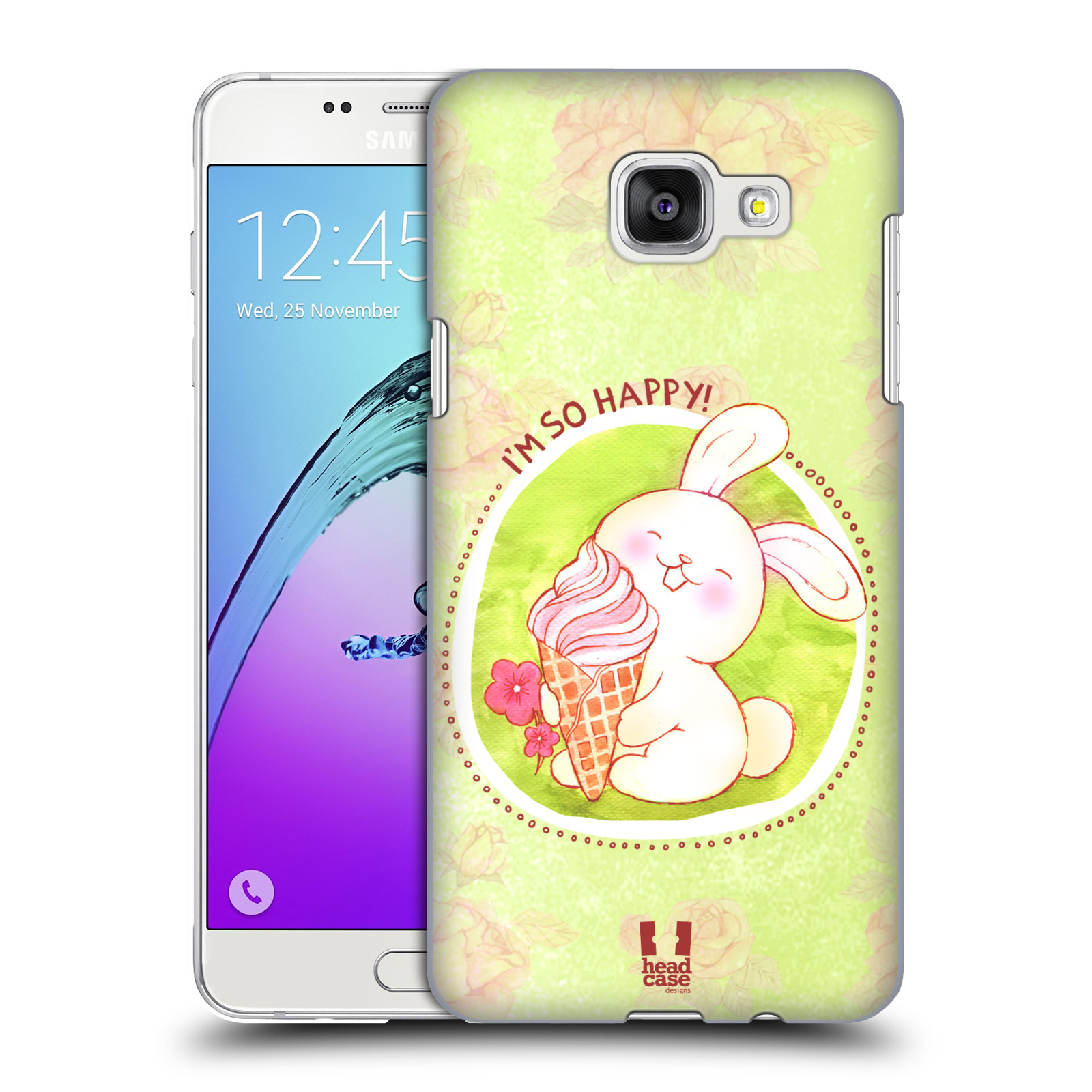 Plastové pouzdro na mobil Samsung Galaxy A5 (2016) HEAD CASE KRÁLÍČEK A ZMRZKA