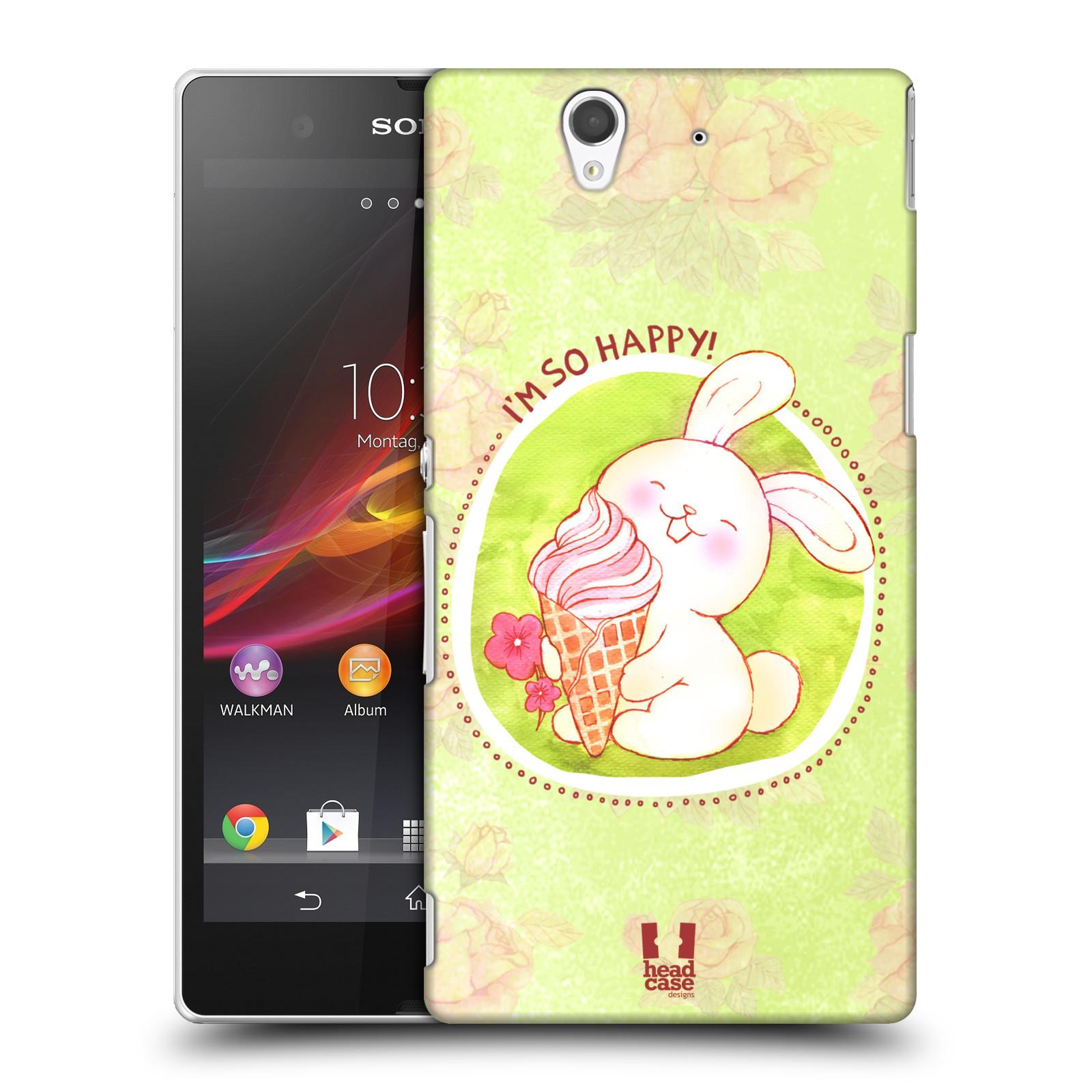 Plastové pouzdro na mobil Sony Xperia Z C6603 HEAD CASE KRÁLÍČEK A ZMRZKA