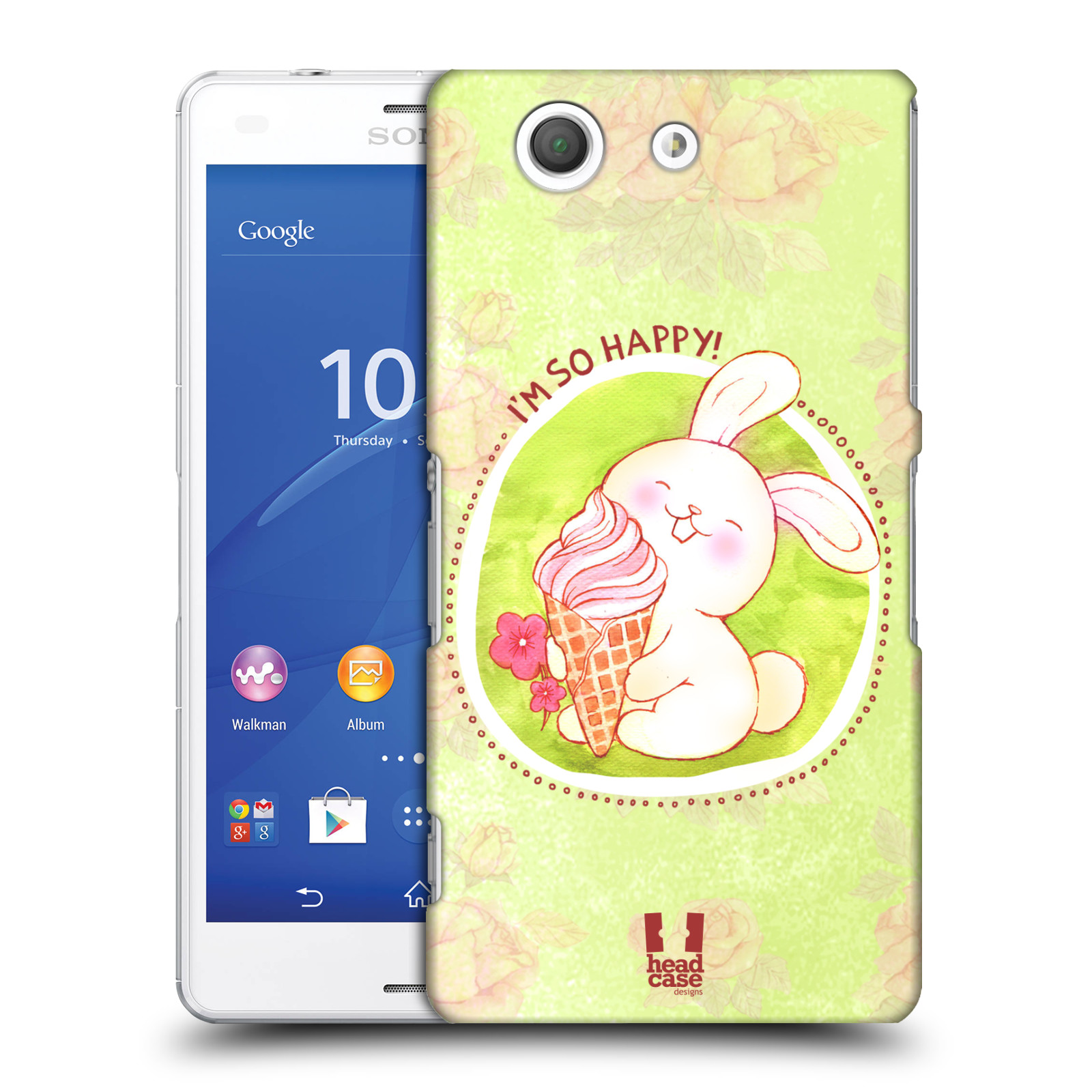 Plastové pouzdro na mobil Sony Xperia Z3 Compact D5803 HEAD CASE KRÁLÍČEK A ZMRZKA