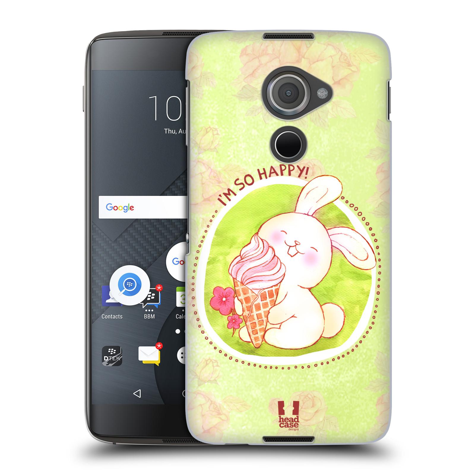 Plastové pouzdro na mobil Blackberry DTEK60 (Argon) - Head Case KRÁLÍČEK A ZMRZKA