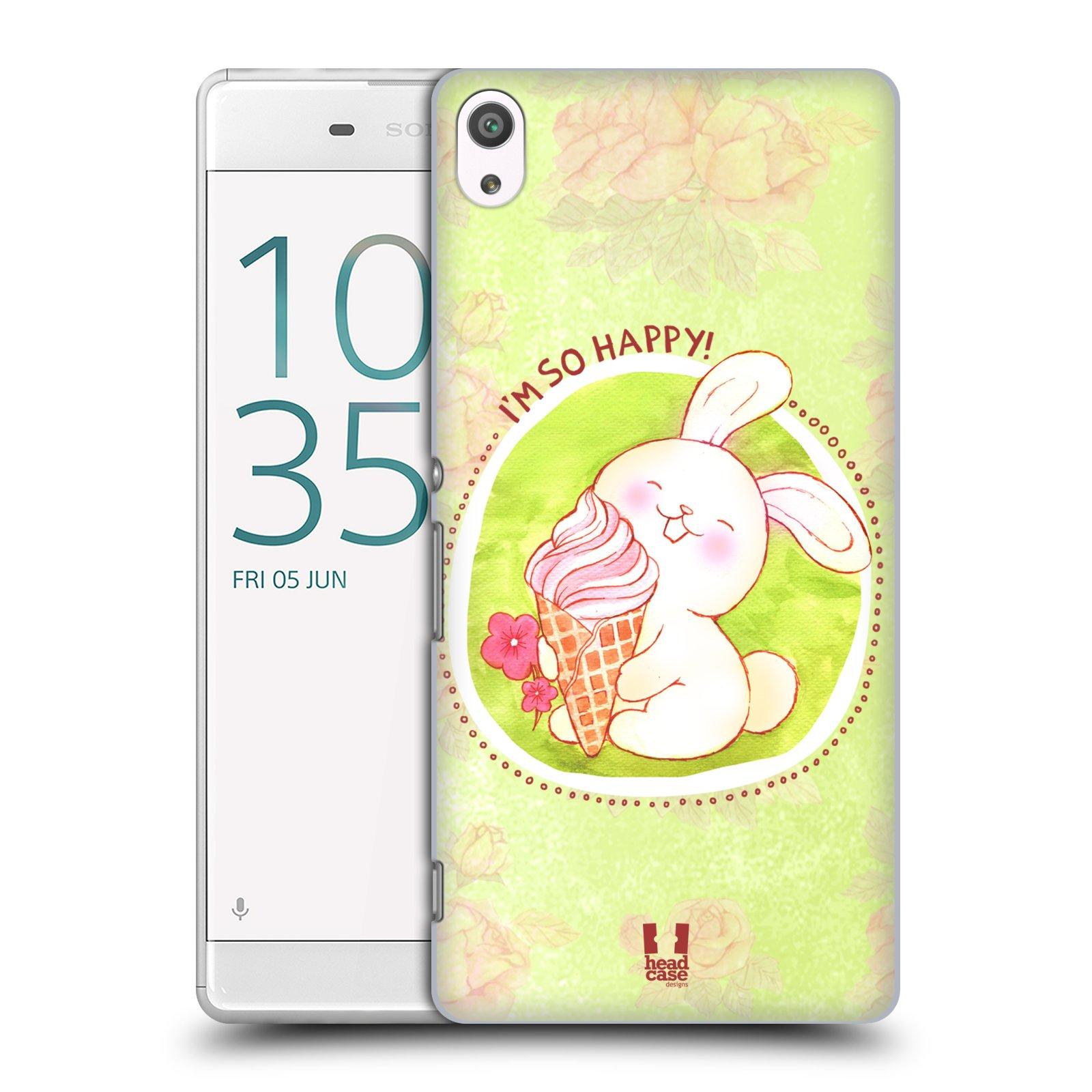 Plastové pouzdro na mobil Sony Xperia XA Ultra HEAD CASE KRÁLÍČEK A ZMRZKA