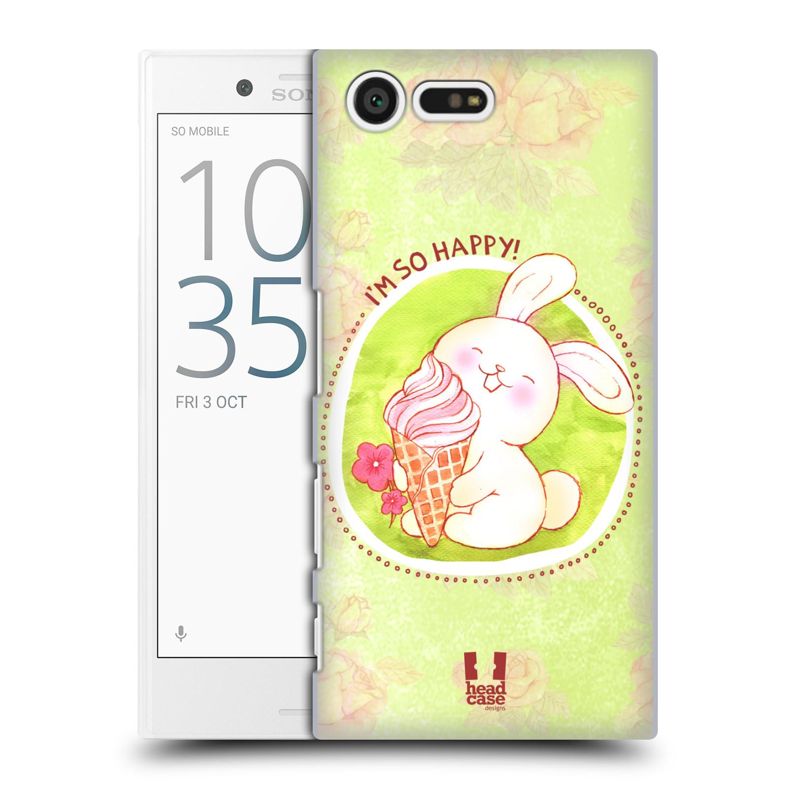 Plastové pouzdro na mobil Sony Xperia X Compact HEAD CASE KRÁLÍČEK A ZMRZKA