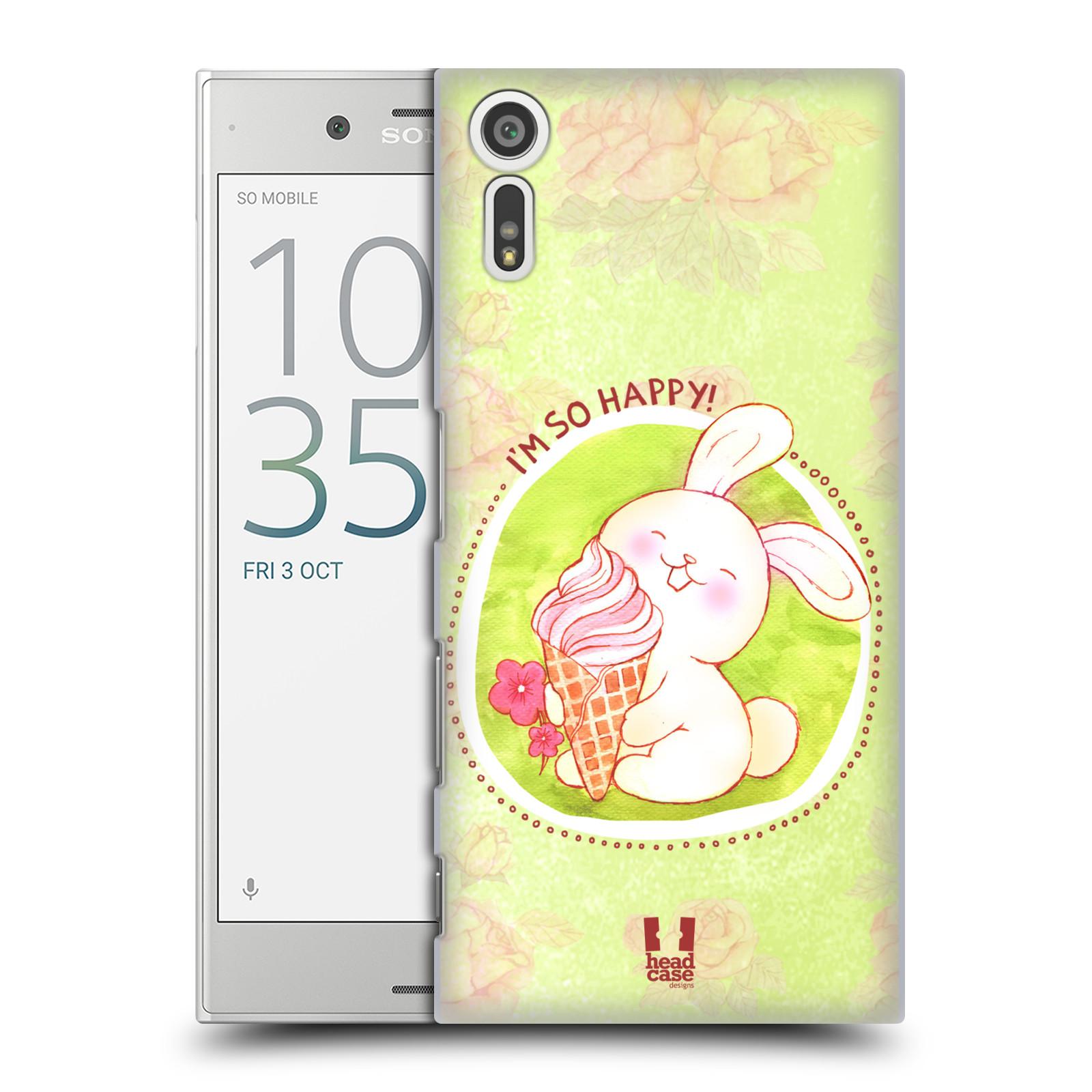 Plastové pouzdro na mobil Sony Xperia XZ - Head Case KRÁLÍČEK A ZMRZKA