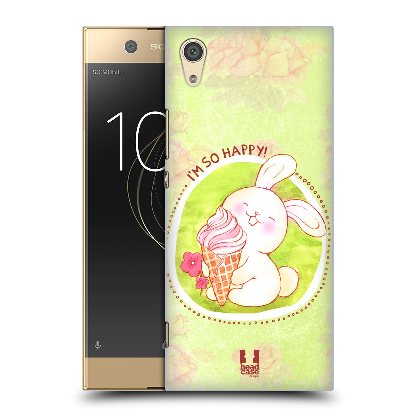 Plastové pouzdro na mobil Sony Xperia XA1 - Head Case - KRÁLÍČEK A ZMRZKA