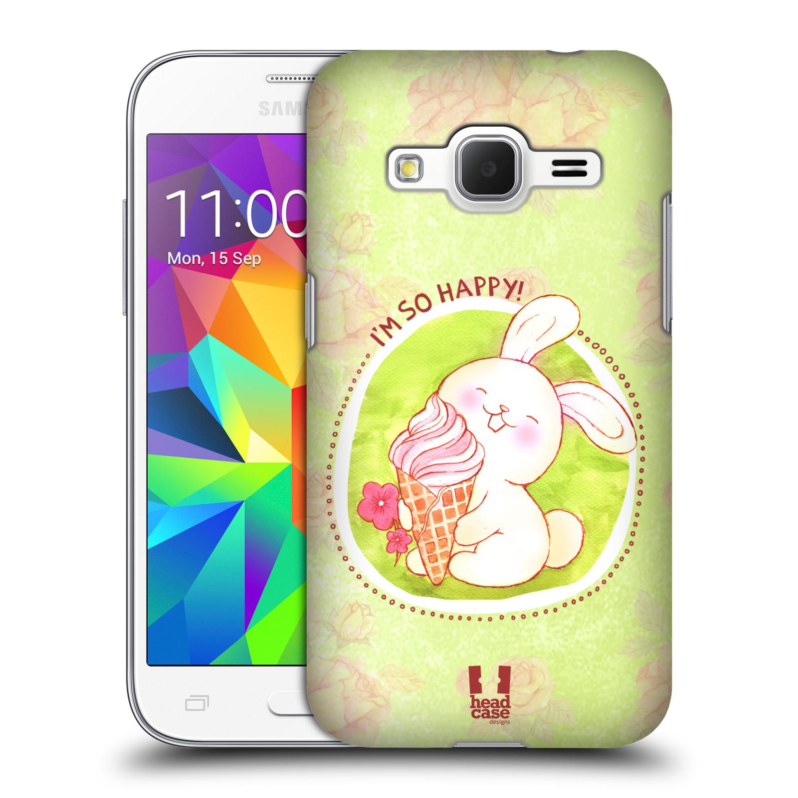 Plastové pouzdro na mobil Samsung Galaxy Core Prime VE HEAD CASE KRÁLÍČEK A ZMRZKA