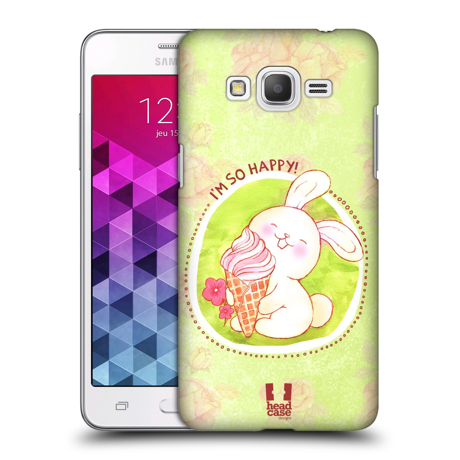 Plastové pouzdro na mobil Samsung Galaxy Grand Prime HEAD CASE KRÁLÍČEK A ZMRZKA