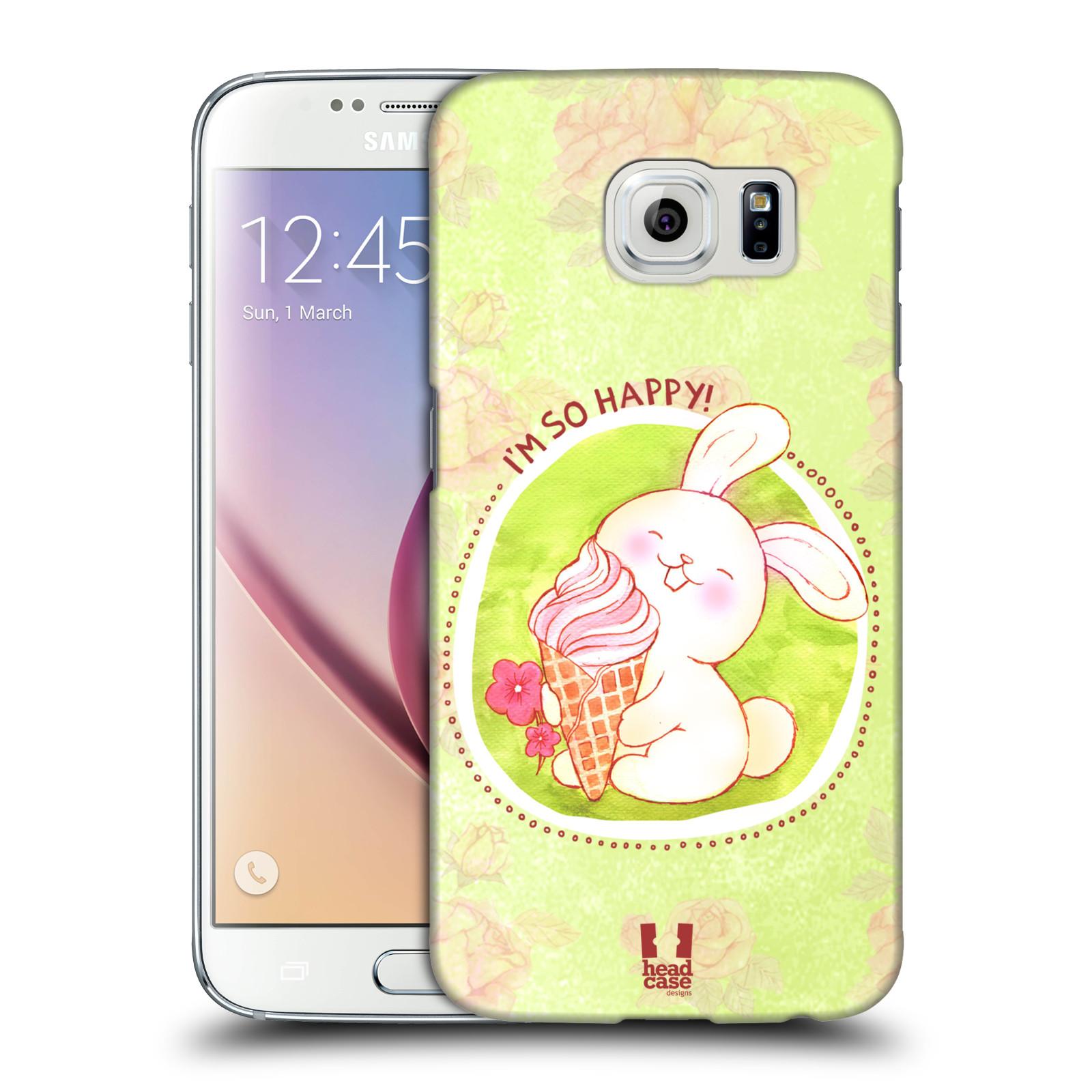 Plastové pouzdro na mobil Samsung Galaxy S6 HEAD CASE KRÁLÍČEK A ZMRZKA