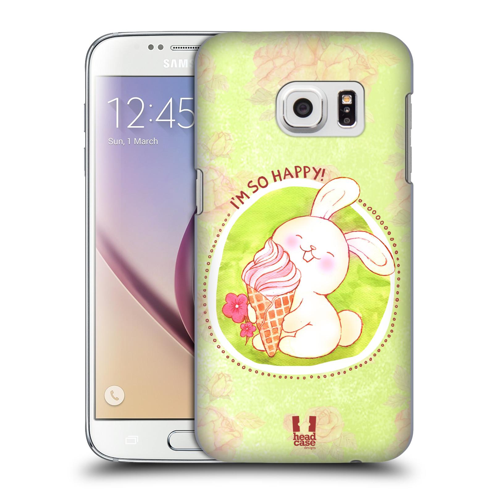 Plastové pouzdro na mobil Samsung Galaxy S7 HEAD CASE KRÁLÍČEK A ZMRZKA