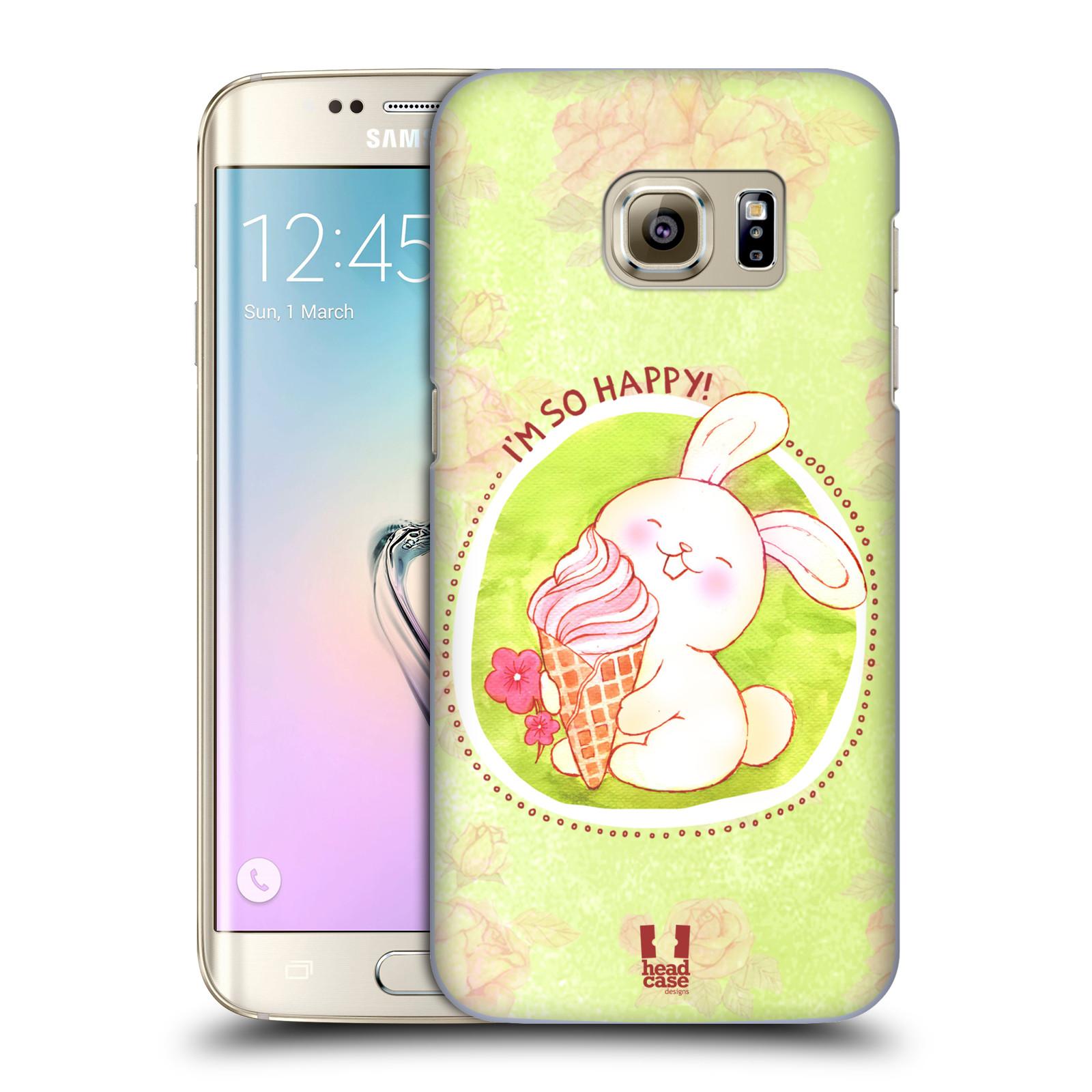 Plastové pouzdro na mobil Samsung Galaxy S7 Edge HEAD CASE KRÁLÍČEK A ZMRZKA