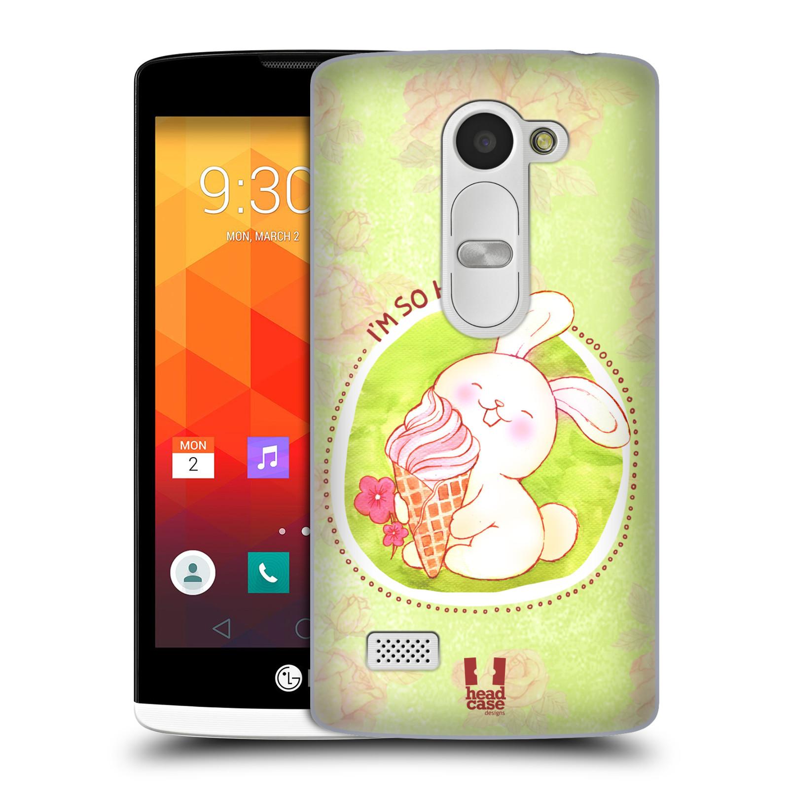 Plastové pouzdro na mobil LG Leon LTE HEAD CASE KRÁLÍČEK A ZMRZKA