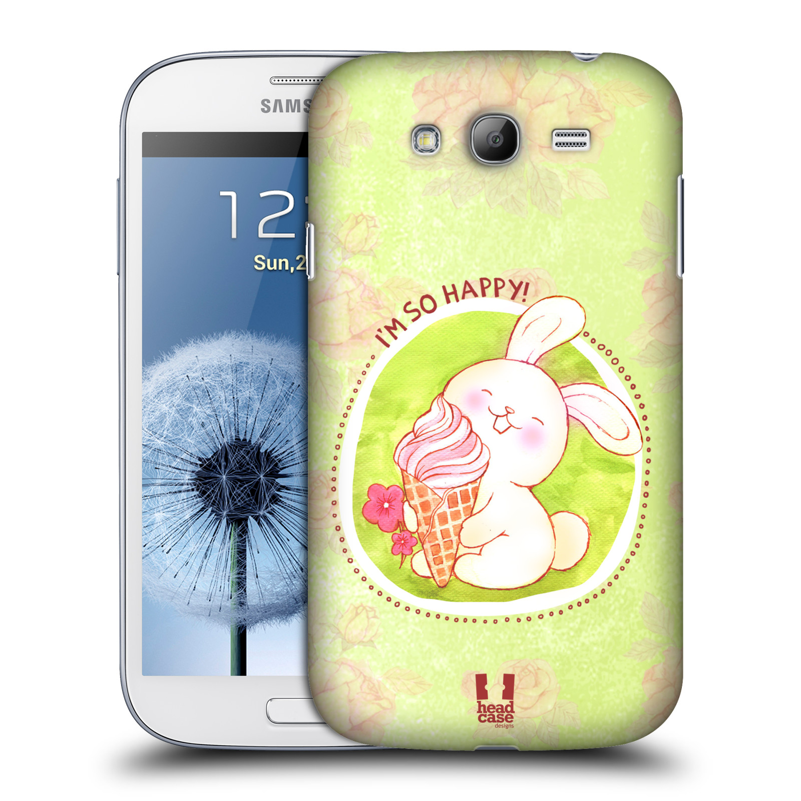Plastové pouzdro na mobil Samsung Galaxy Grand Neo Plus HEAD CASE KRÁLÍČEK A ZMRZKA