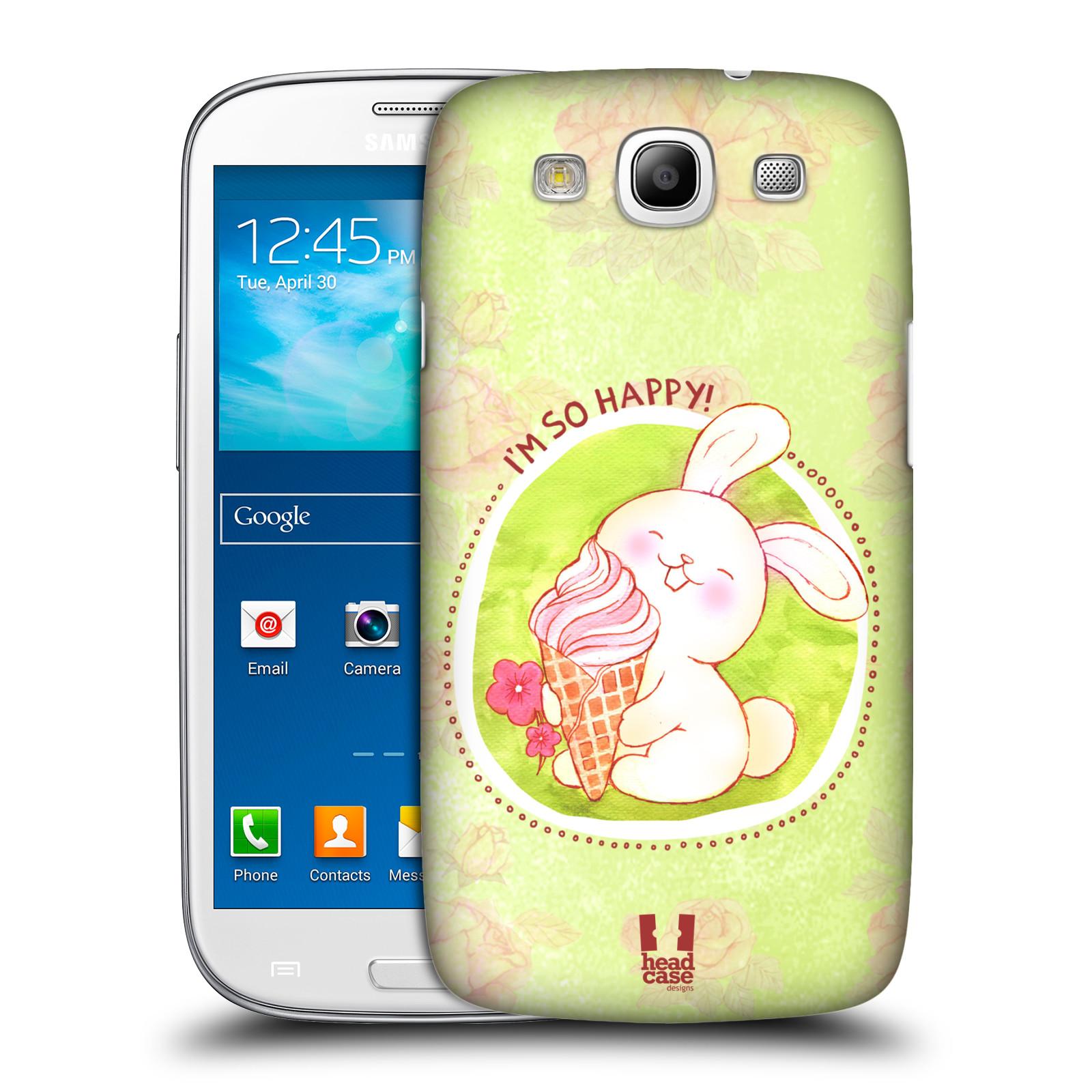Plastové pouzdro na mobil Samsung Galaxy S III HEAD CASE KRÁLÍČEK A ZMRZKA