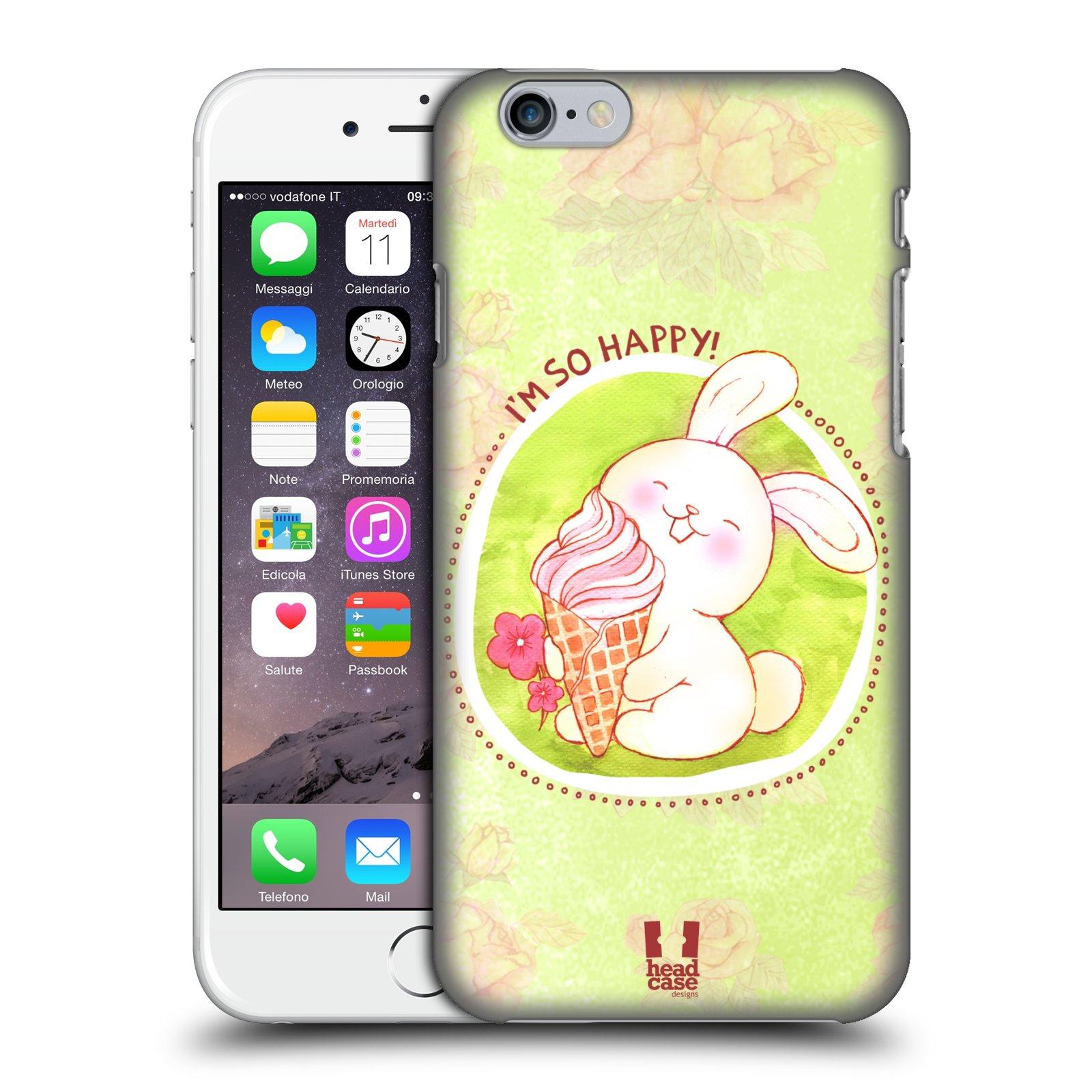 Plastové pouzdro na mobil Apple iPhone 6 a 6S HEAD CASE KRÁLÍČEK A ZMRZKA