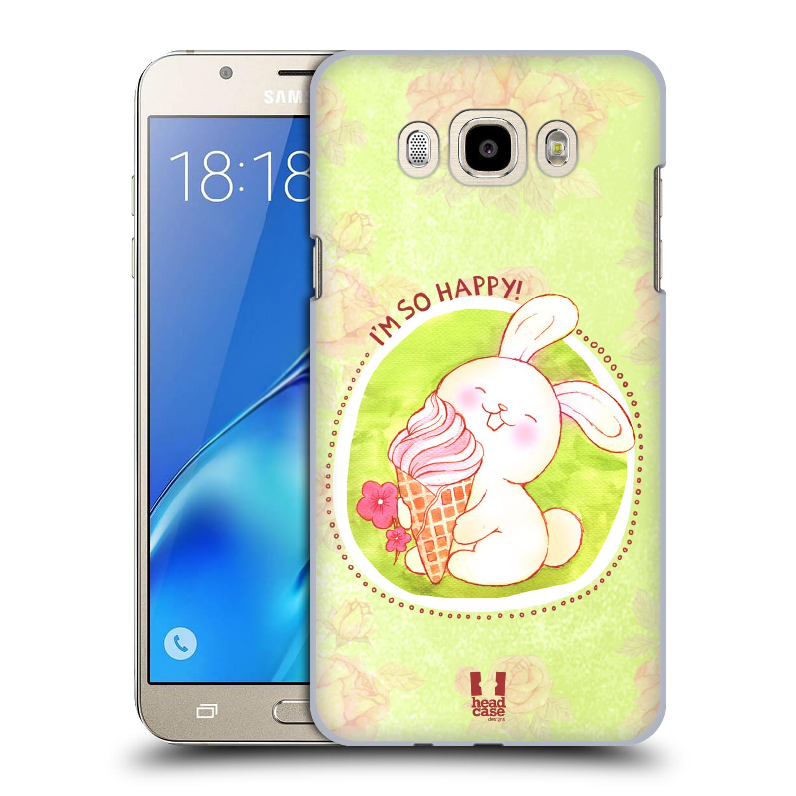 Plastové pouzdro na mobil Samsung Galaxy J7 (2016) HEAD CASE KRÁLÍČEK A ZMRZKA