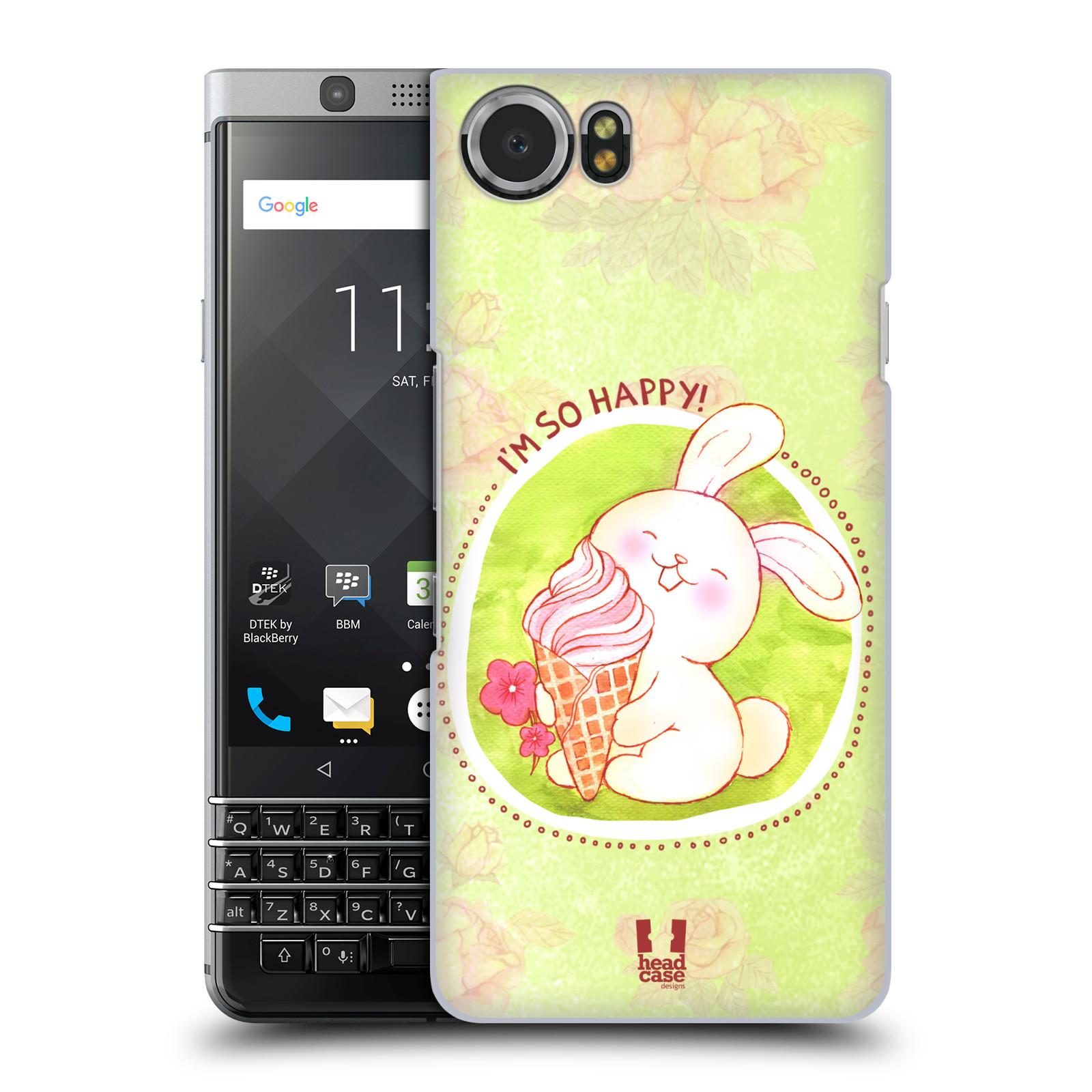 Plastové pouzdro na mobil BlackBerry KEYone - Head Case - KRÁLÍČEK A ZMRZKA