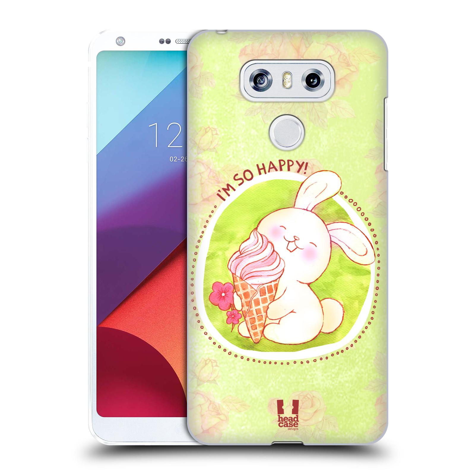 Plastové pouzdro na mobil LG G6 - Head Case KRÁLÍČEK A ZMRZKA
