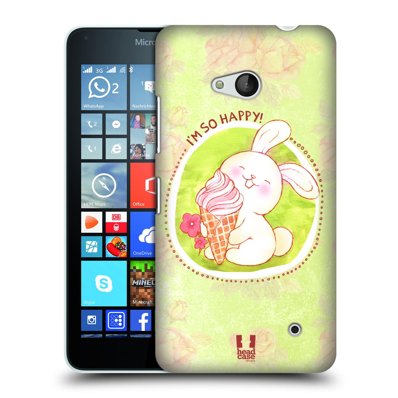 Plastové pouzdro na mobil Microsoft Lumia 640 HEAD CASE KRÁLÍČEK A ZMRZKA