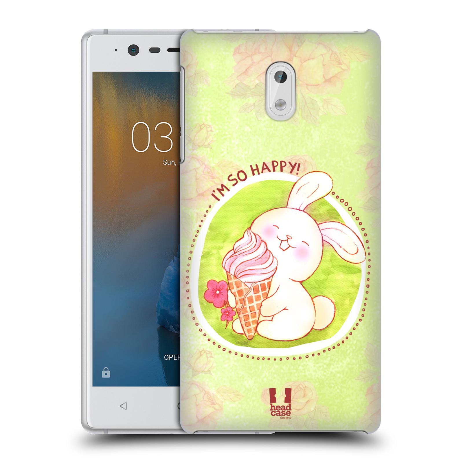Plastové pouzdro na mobil Nokia 3 Head Case - KRÁLÍČEK A ZMRZKA
