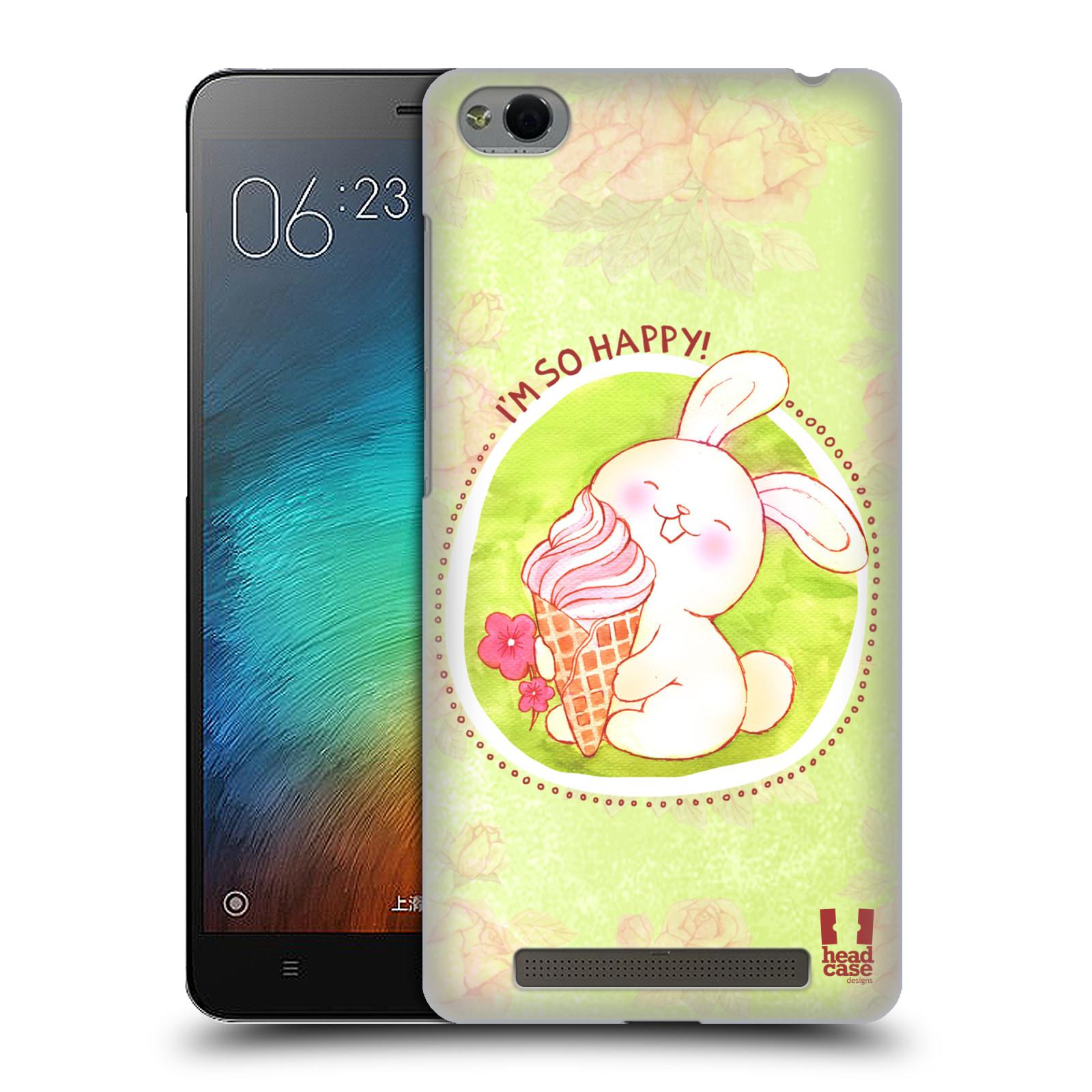 Plastové pouzdro na mobil Xiaomi Redmi 3 HEAD CASE KRÁLÍČEK A ZMRZKA