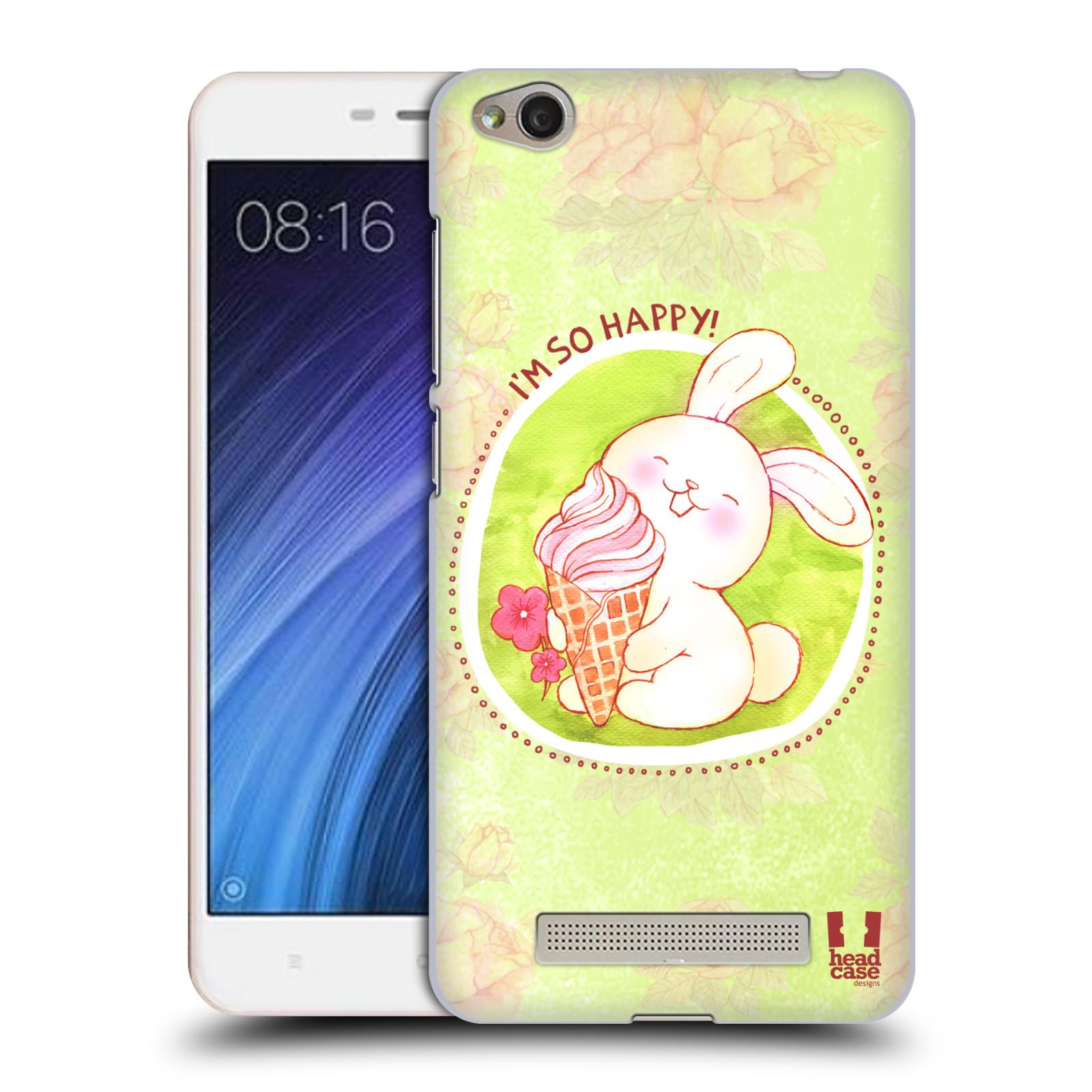 Plastové pouzdro na mobil Xiaomi Redmi 4A HEAD CASE KRÁLÍČEK A ZMRZKA