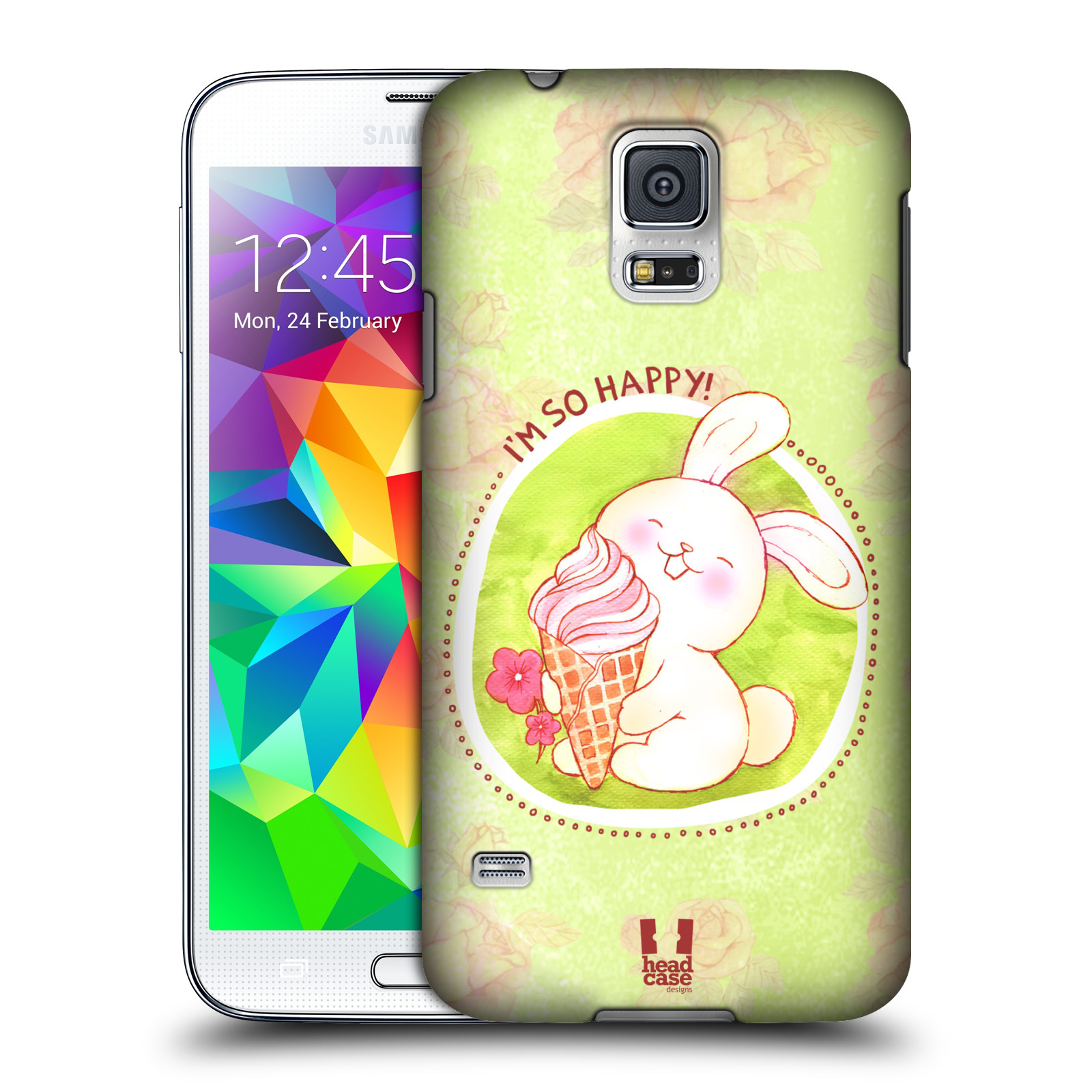 Plastové pouzdro na mobil Samsung Galaxy S5 HEAD CASE KRÁLÍČEK A ZMRZKA