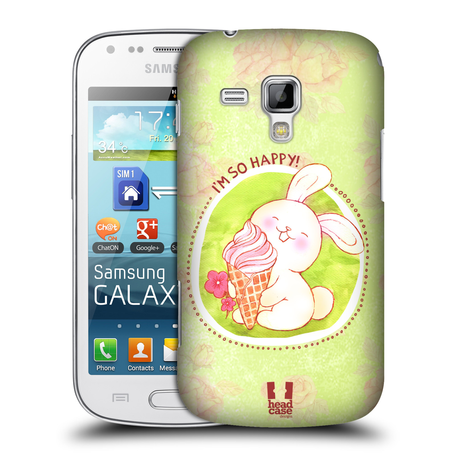 Plastové pouzdro na mobil Samsung Galaxy Trend Plus HEAD CASE KRÁLÍČEK A ZMRZKA