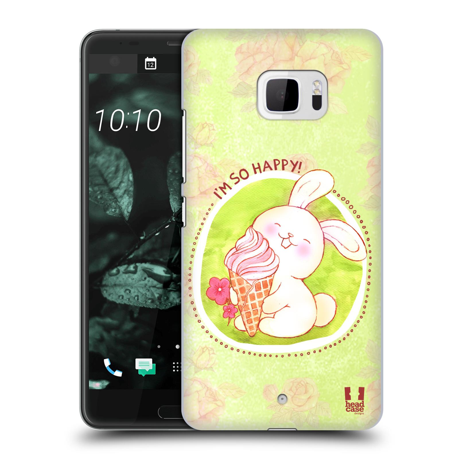 Plastové pouzdro na mobil HTC U Ultra Head Case - KRÁLÍČEK A ZMRZKA
