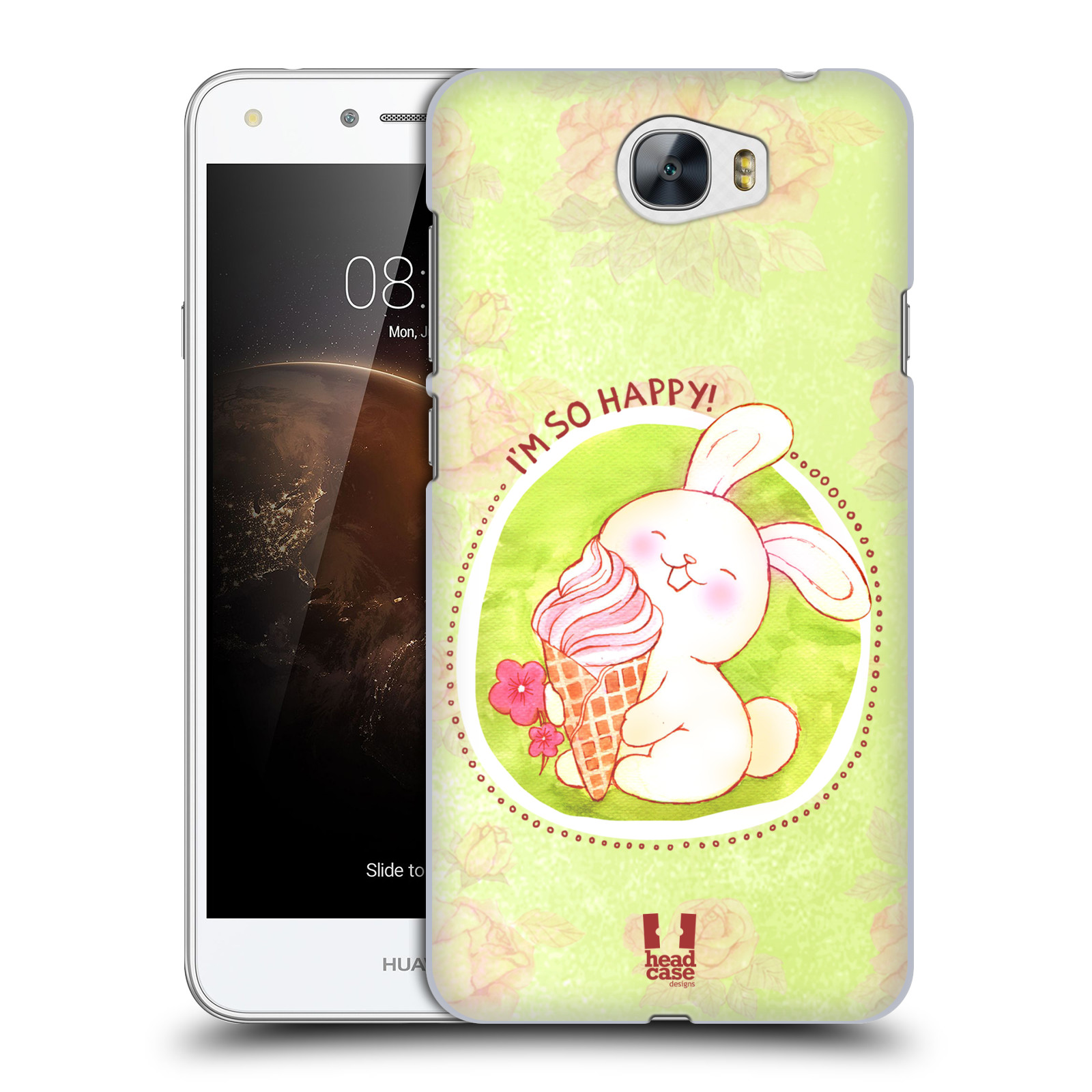 Plastové pouzdro na mobil Huawei Y5 II HEAD CASE KRÁLÍČEK A ZMRZKA