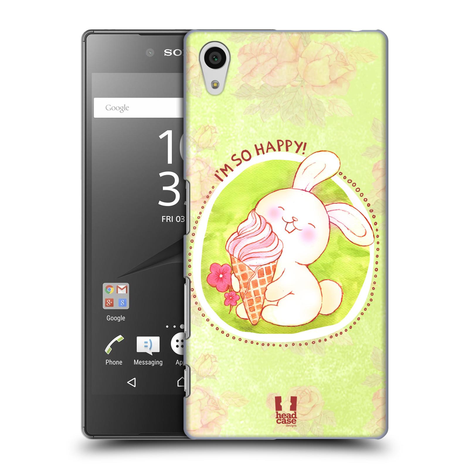 Plastové pouzdro na mobil Sony Xperia Z5 HEAD CASE KRÁLÍČEK A ZMRZKA