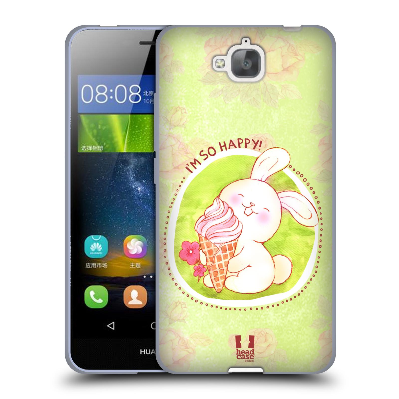 Silikonové pouzdro na mobil Huawei Y6 Pro Dual Sim HEAD CASE KRÁLÍČEK A ZMRZKA